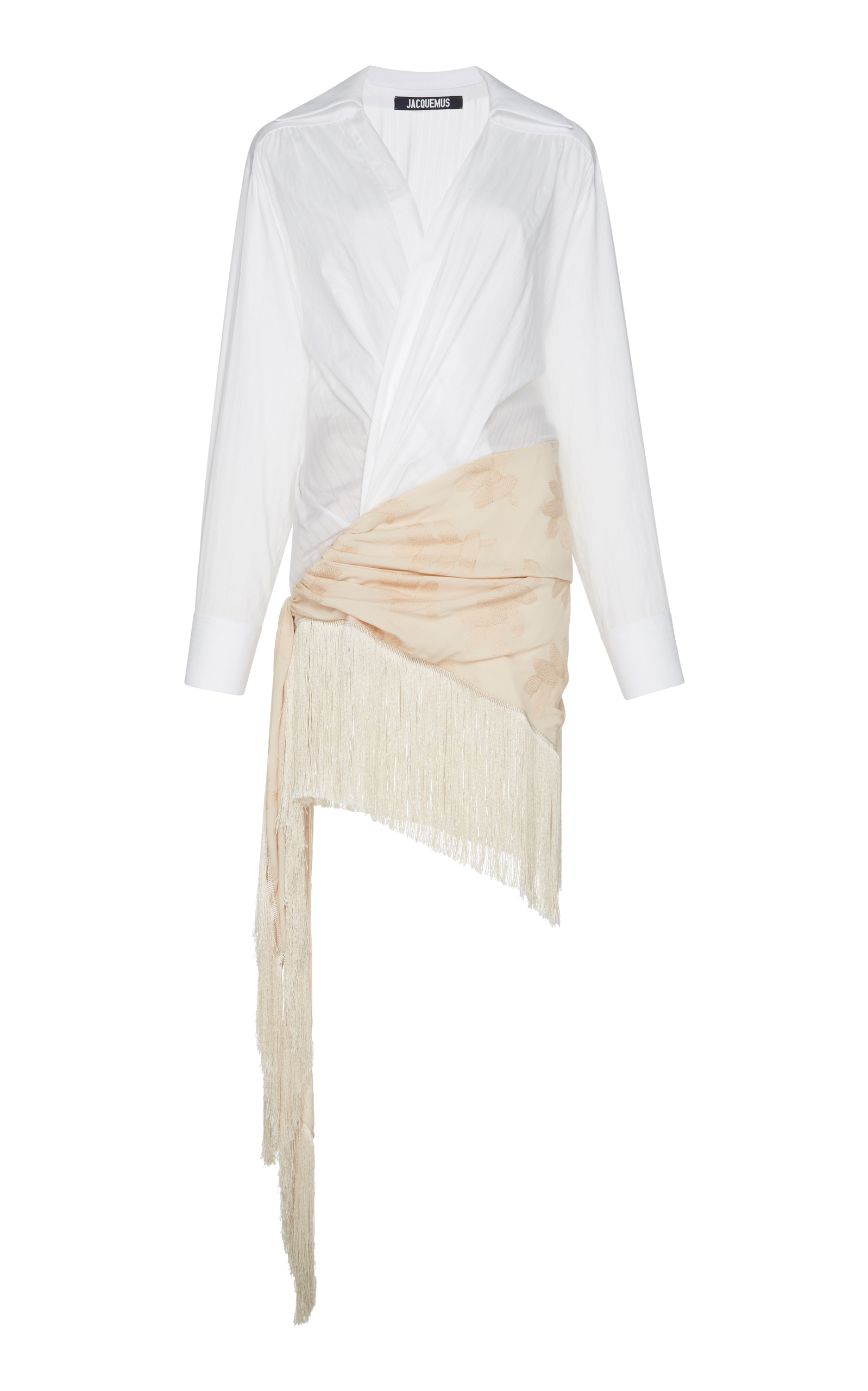 5e513810ce50 Fringe Hem Pareo Shirt Dress by Jacquemus | Moda Operandi
