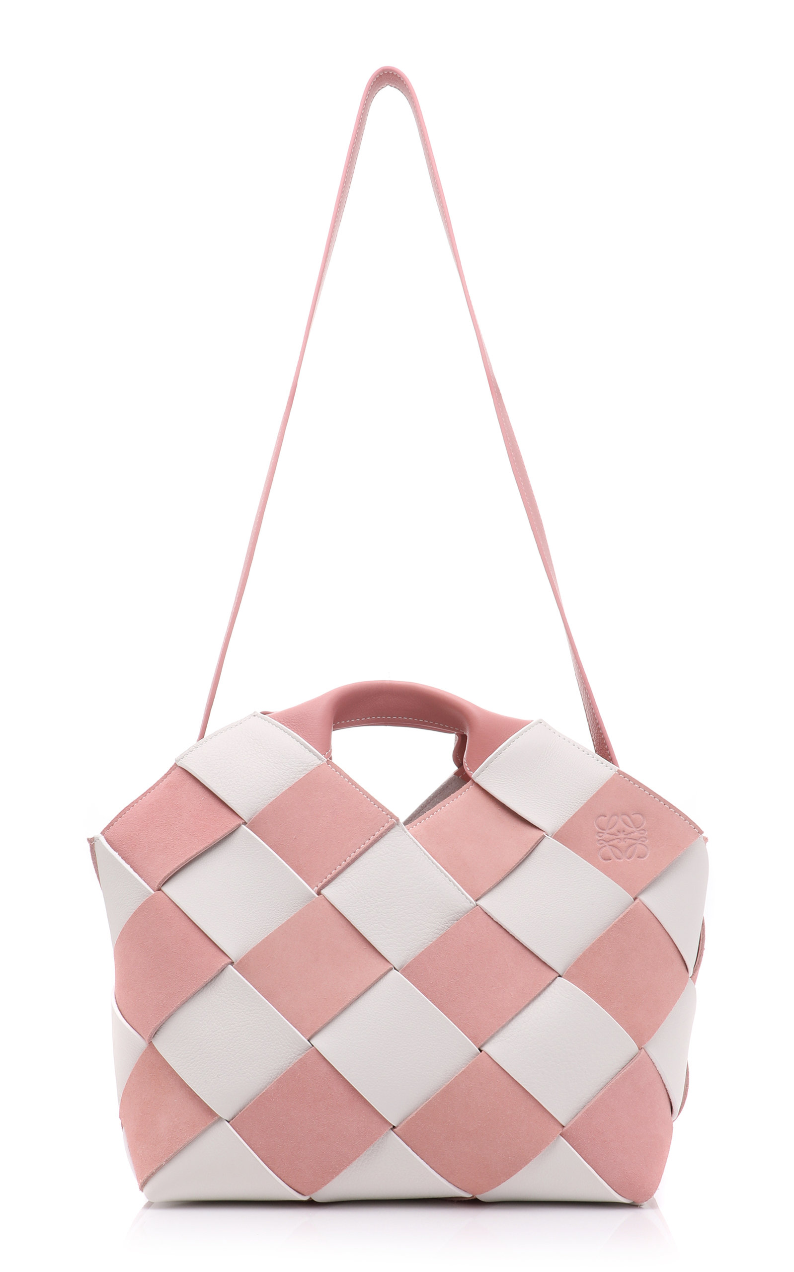 Two-Tone Woven Leather and Suede Tote Loewe rBaItk