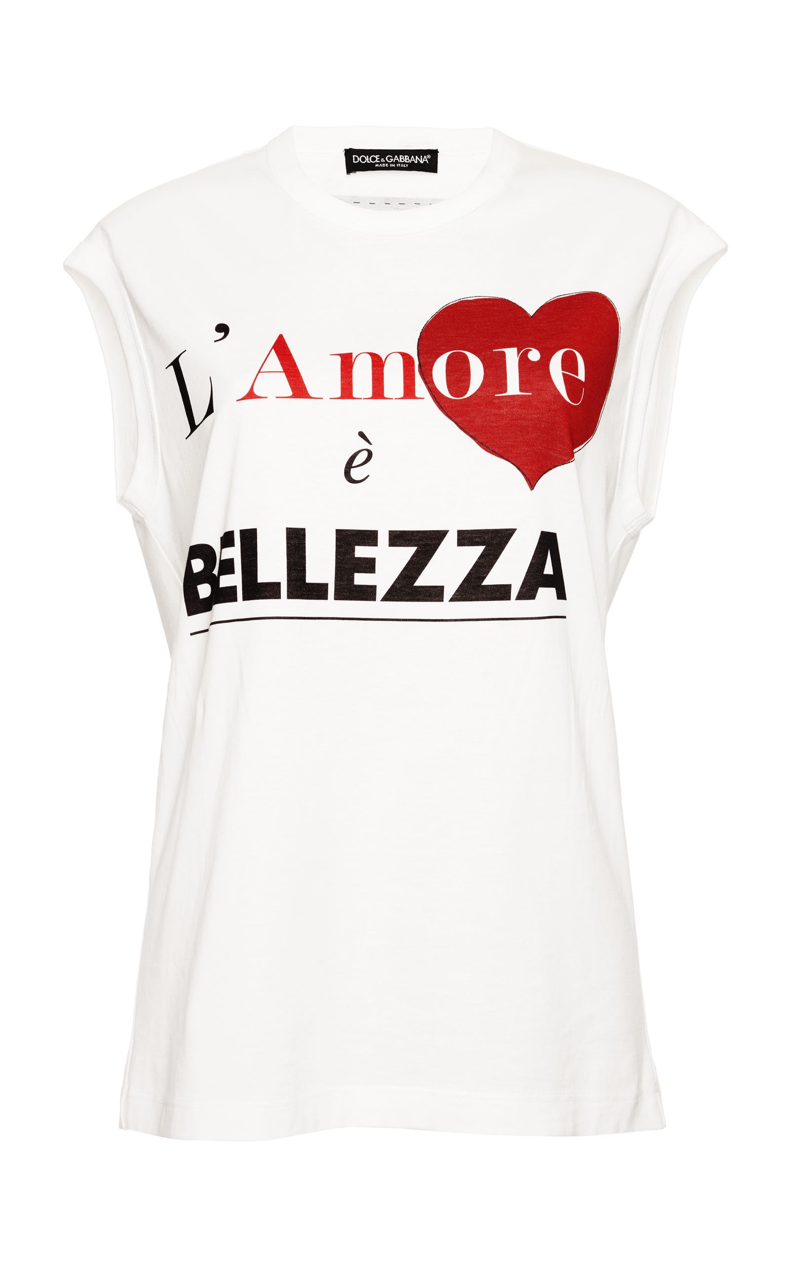 L'Amore E Bellezza Cap-Sleeve Graphic-Print T-Shirt, White