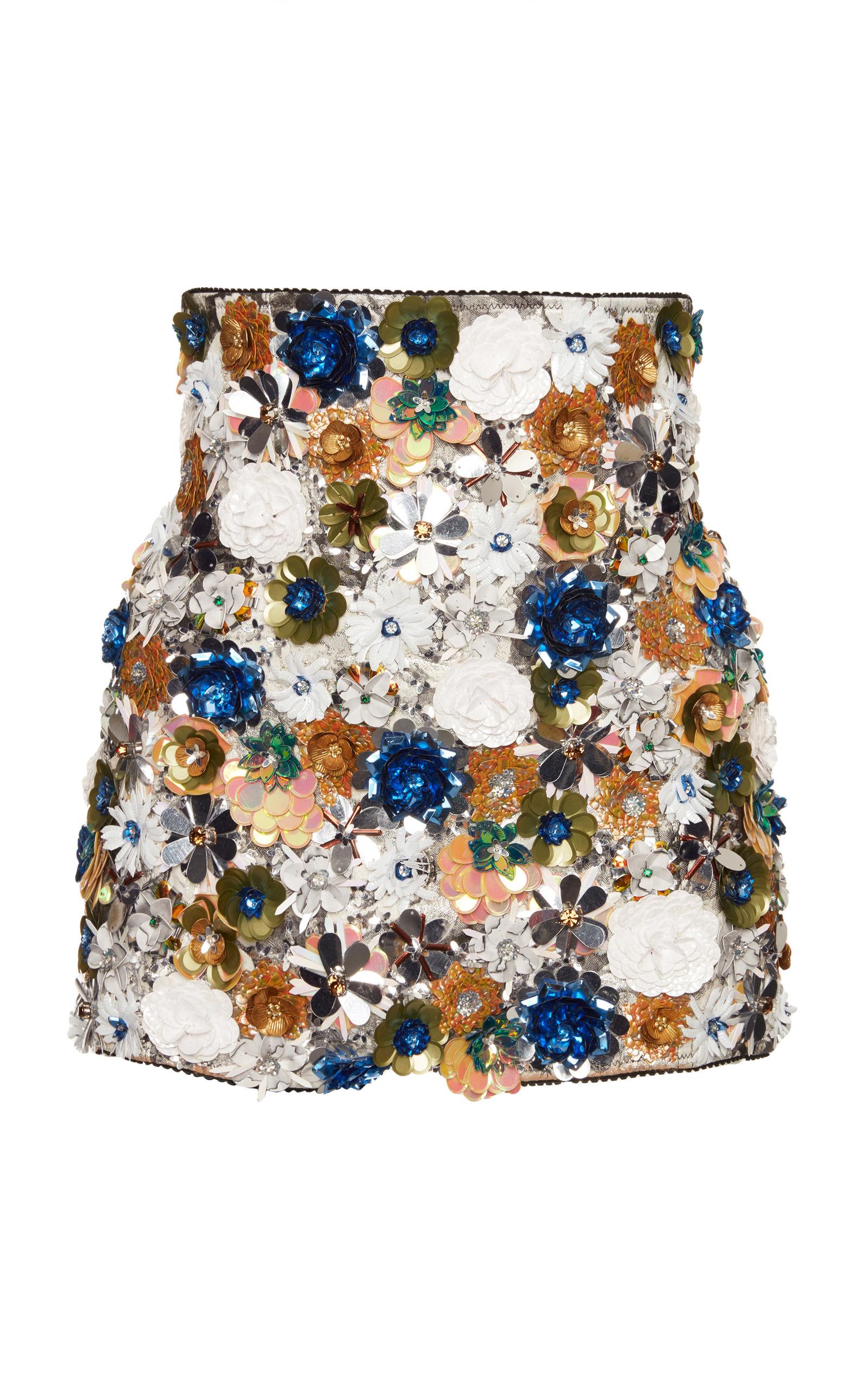 9ae99c5aa5b High Waisted Sequin Boy Shorts by Dolce & Gabbana | Moda Operandi