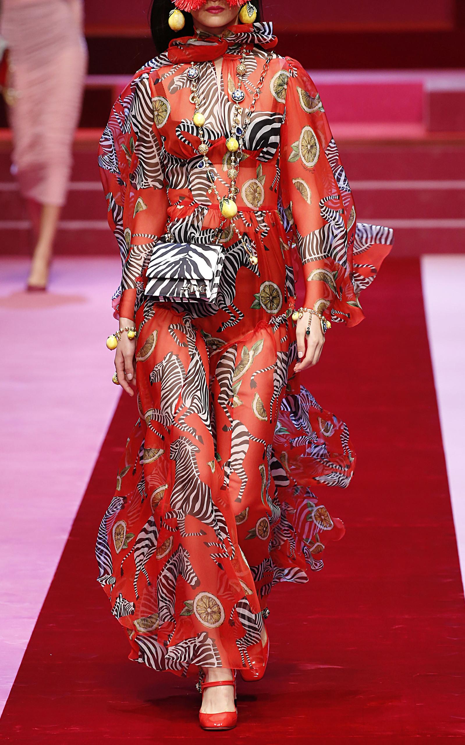 2019 year lifestyle- Gabana Dolce zebra dress collection
