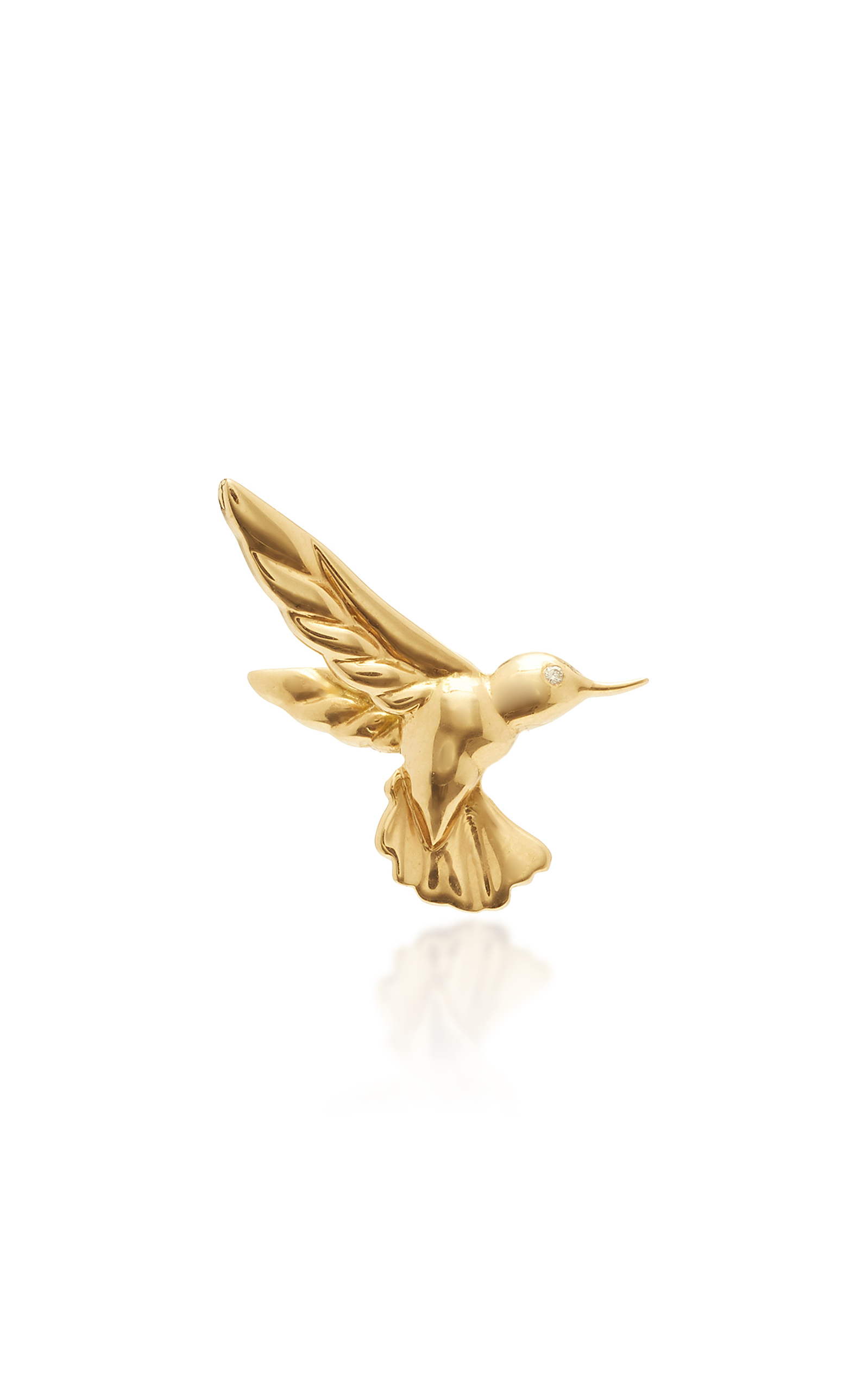BRENT NEALE M'O EXCLUSIVE SINGLE HUMMINGBIRD EARRING FOR LEFT EAR