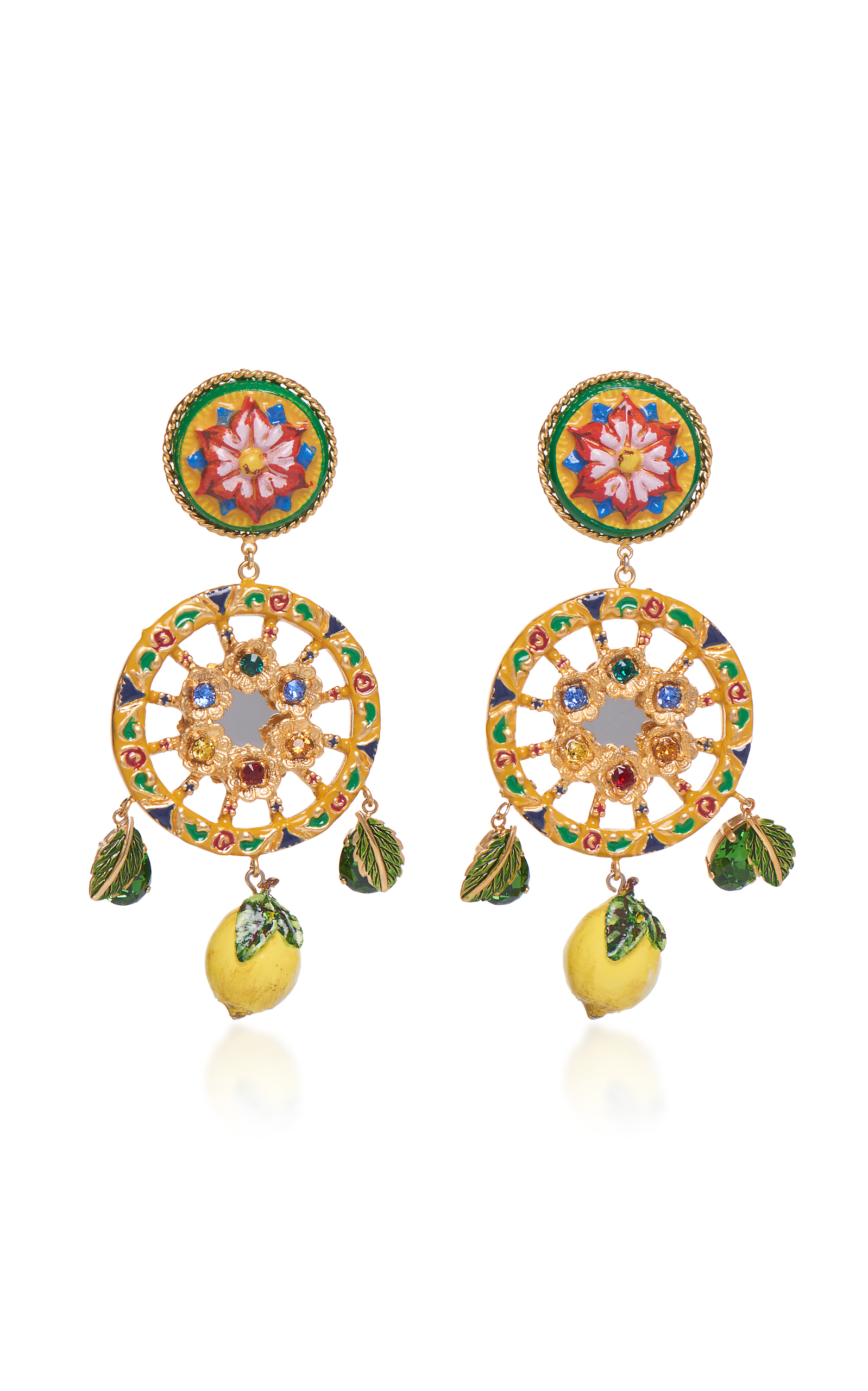 Circle Drop Lemon Earrings Dolce & Gabbana Al3EbD3r8