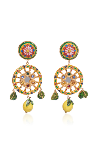 Circle Drop Lemon Earrings Dolce & Gabbana Qb39Kyff