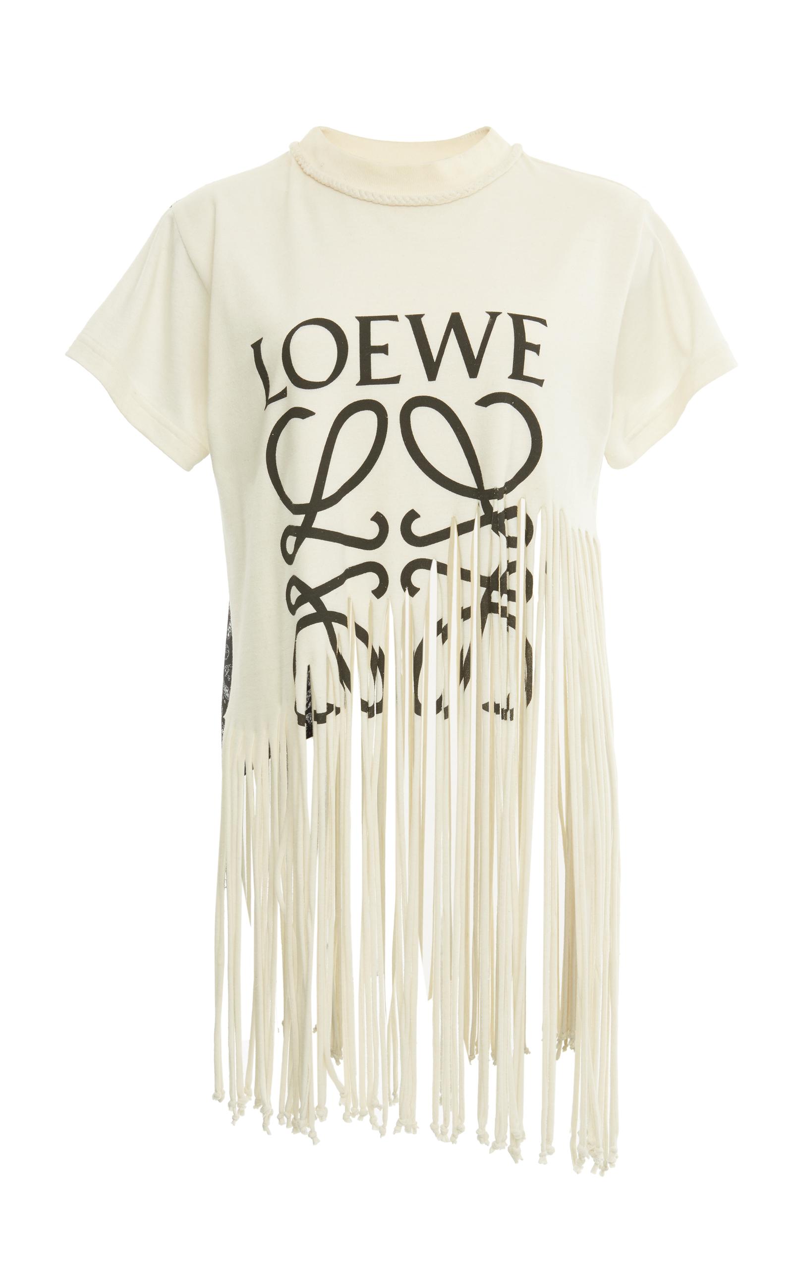 fringe logo T-shirt Loewe Buy Cheap The Cheapest prraP