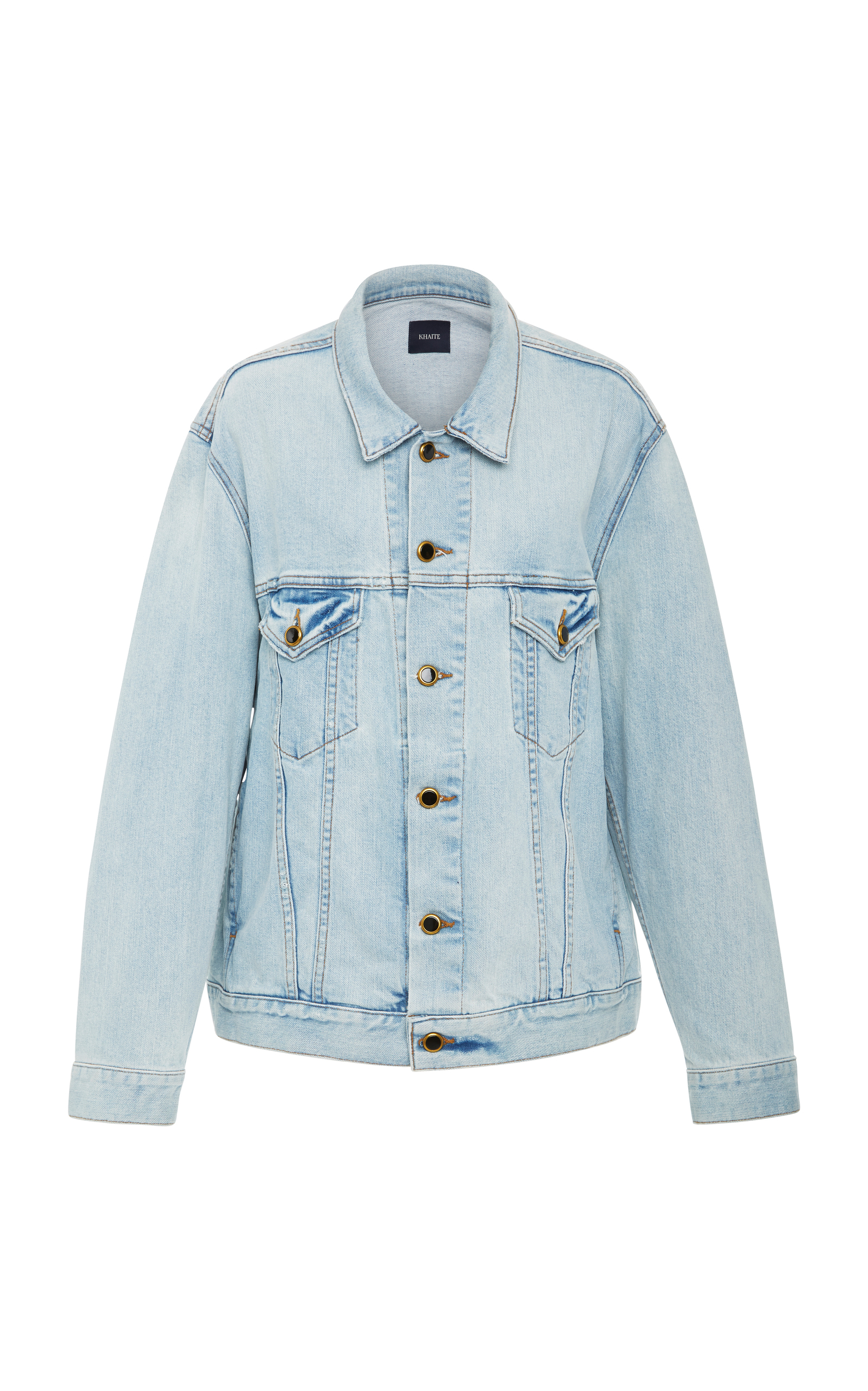 Cate Oversized Denim Jacket, Light Wash