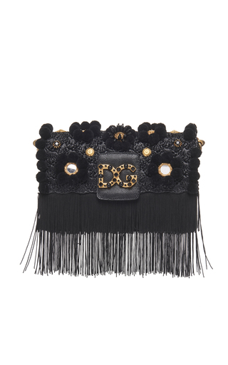 926ce86eb88a Dolce   GabbanaMilennials Raffia Shoulder Bag