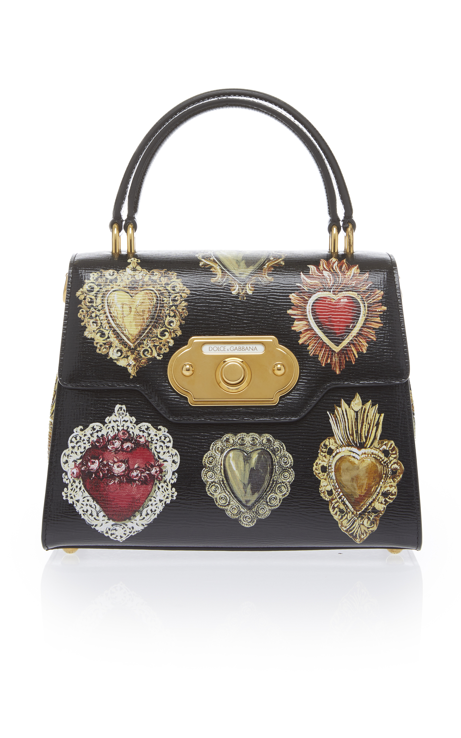 Welcome Small Python Tote - Black Dolce & Gabbana