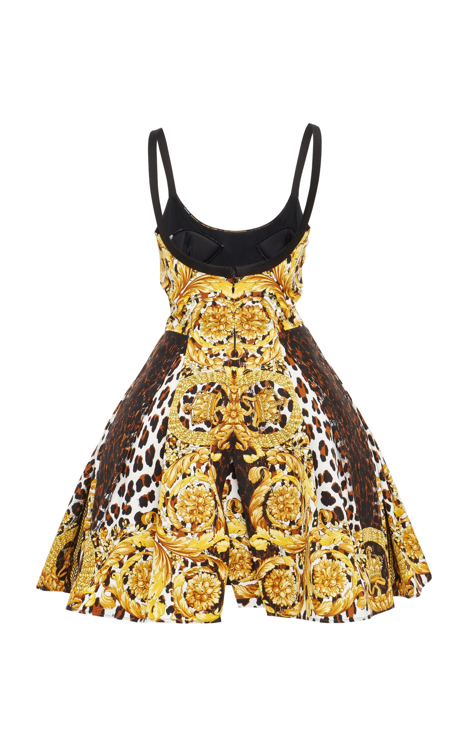 2a4715d5840 Flounced Printed Dress by Versace