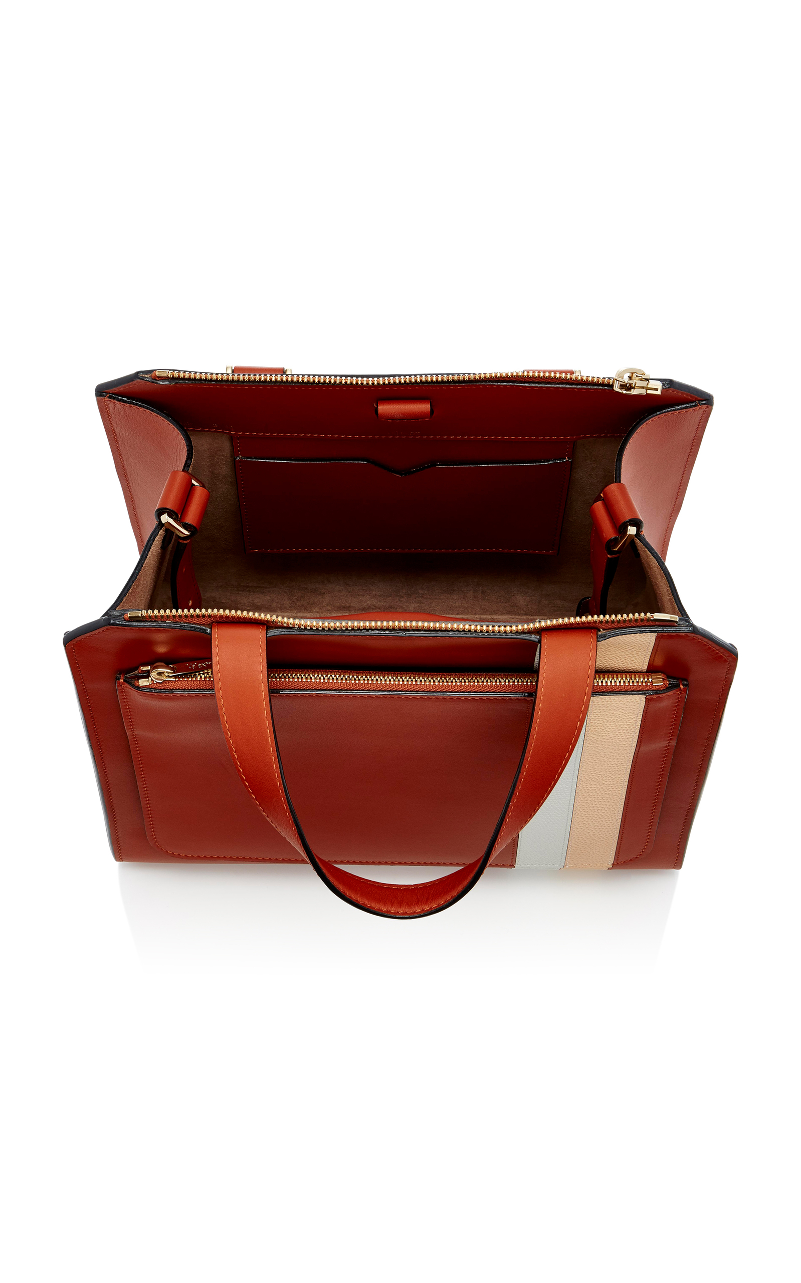 Valextra Linea Toothpaste Passepartout Leather Bag QFtFKMc