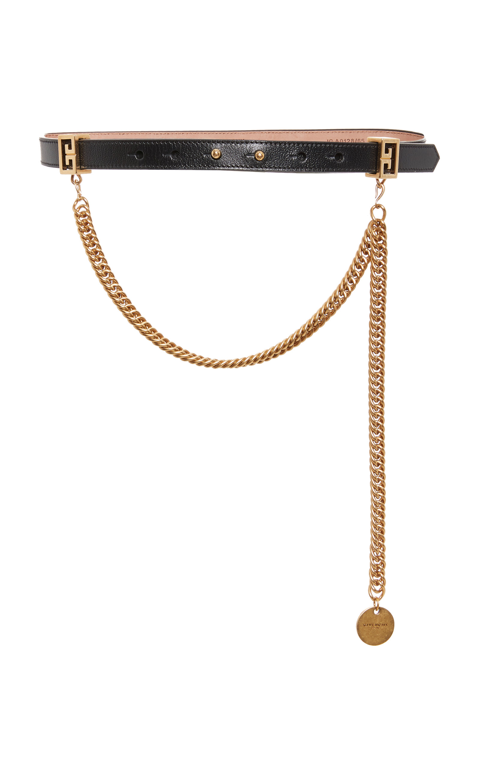 Chain-Trimmed Leather Waist Belt Givenchy wu403f0kC