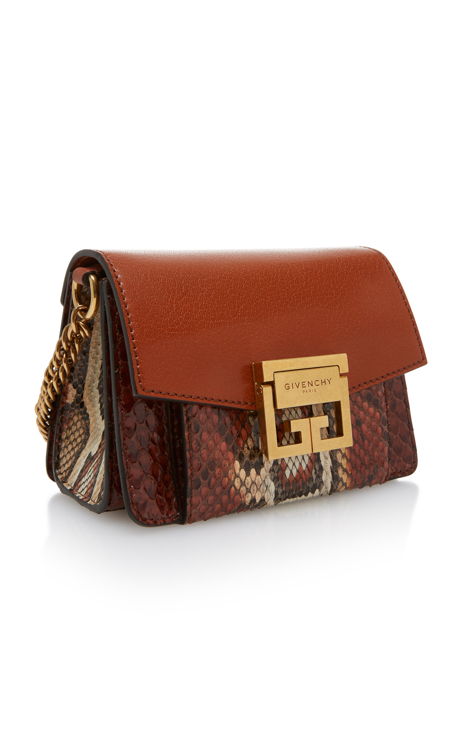 d49966bf6a7c GV3 Mini Snake-Effect Leather Shoulder Bag by Givenchy