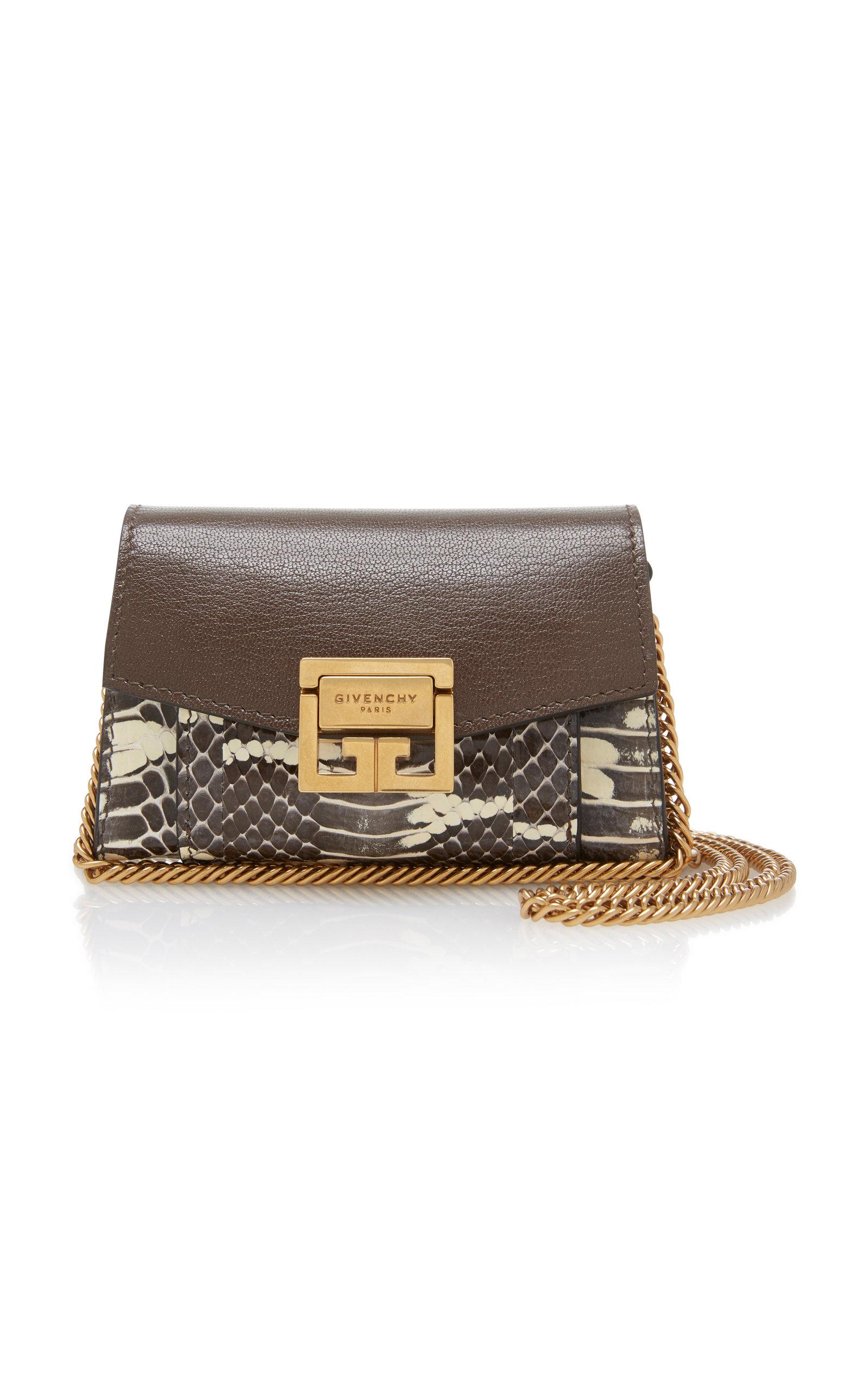 Givenchy GV3 Nano Elaphe And Leather Shoulder Bag vAfEOyR