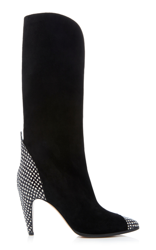 GIVENCHY | Givenchy Suede and Snake-effect Leather Boot | Goxip