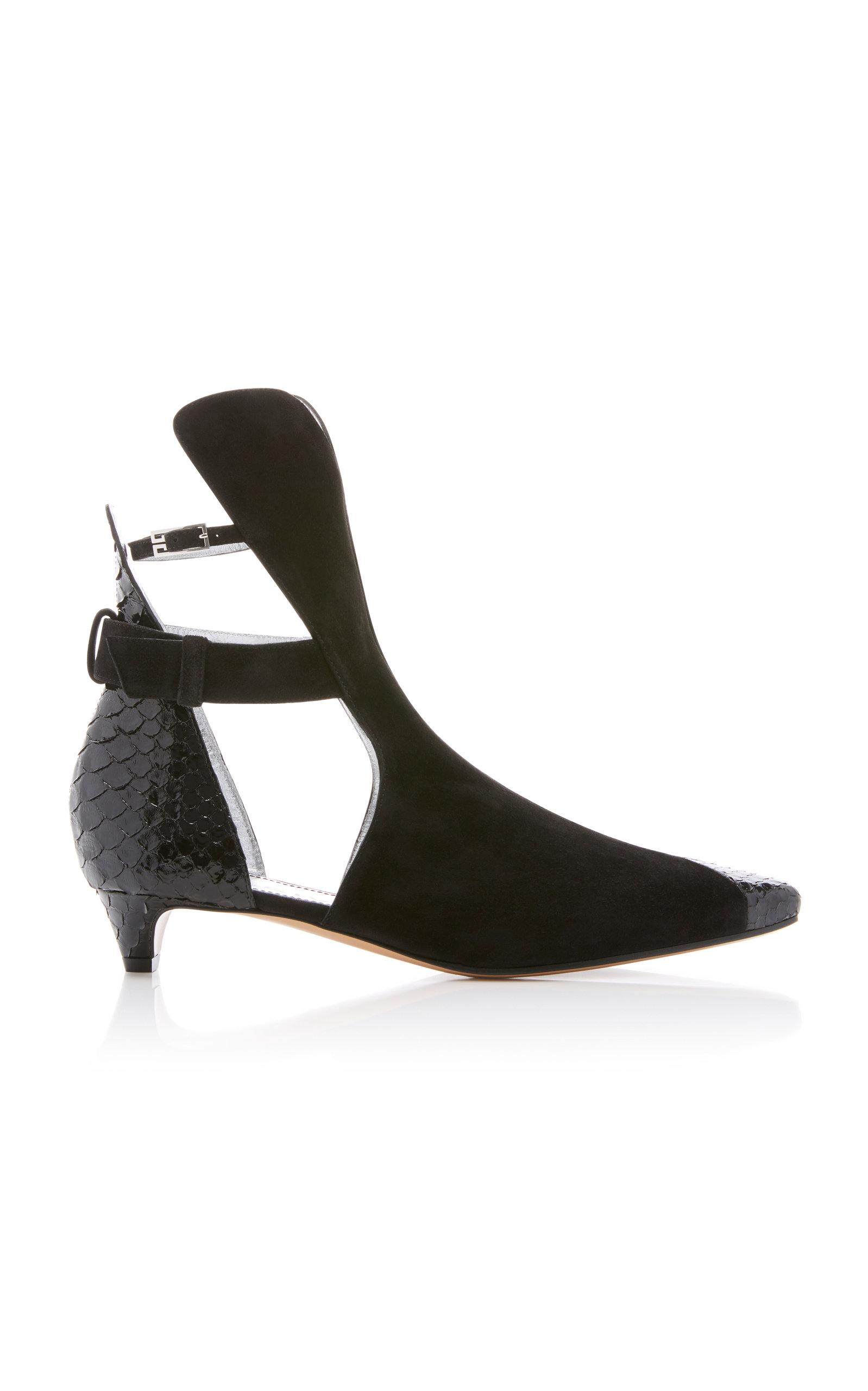 SHOW PYTHON AND SUEDE ANKLE BOOT