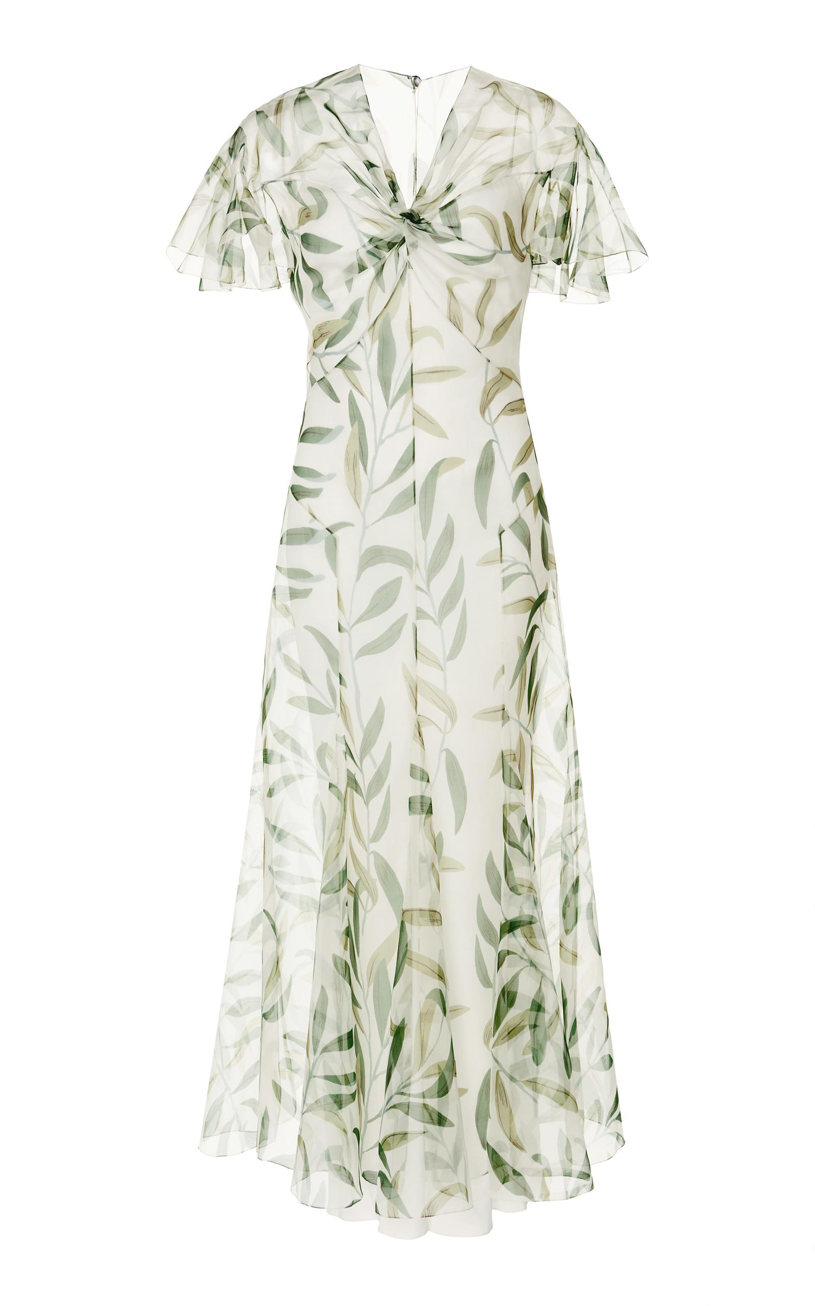 Loop Of Love Print Organza Dress by John Galliano   Moda Operandi