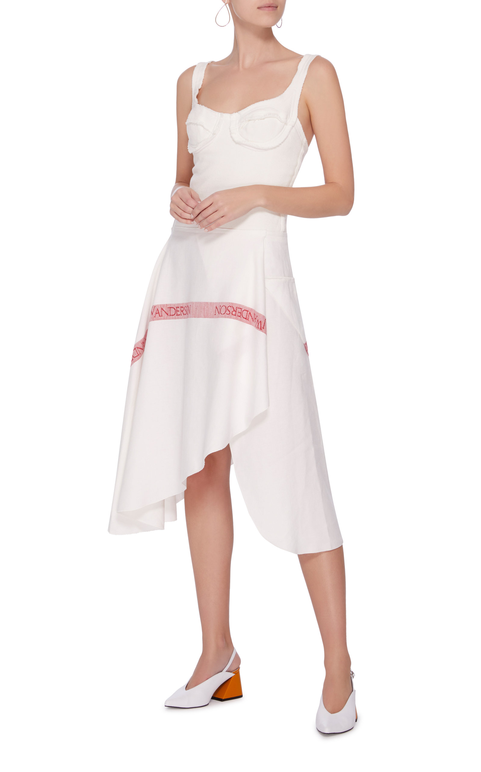 Jersey Bodice Dress With Tea Towel Linen Skirt J.W.Anderson Free Shipping Largest Supplier From China Low Shipping Fee Discount Recommend Wide Range Of Cheap Price l8ri5bPq5