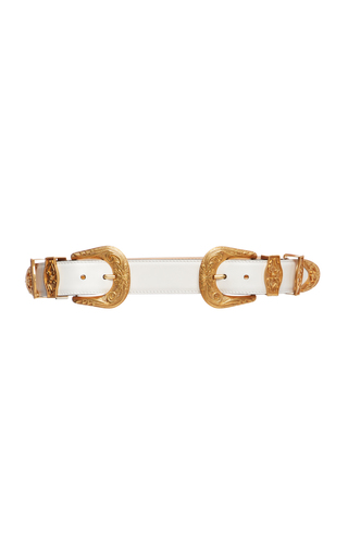 4b356864e7 Oro Tribute Double Buckle Belt by Versace | Moda Operandi