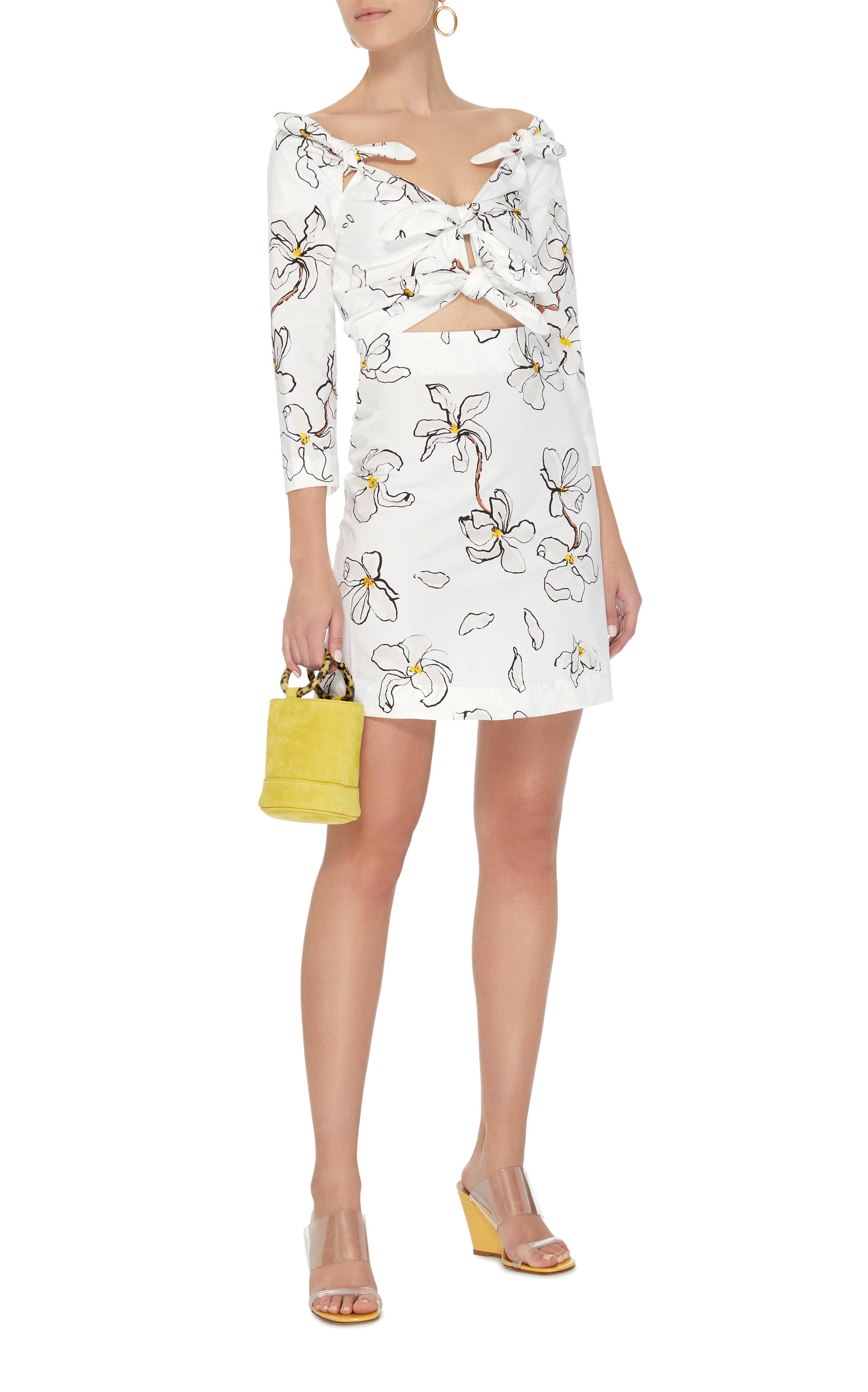 Magnolia 4-Knot Stretch Cotton Mini Dress Isa Arfen Where Can You Find Free Shipping Footlocker Pictures Clearance Online Fake Clearance With Credit Card Sale Pay With Paypal UMivdr