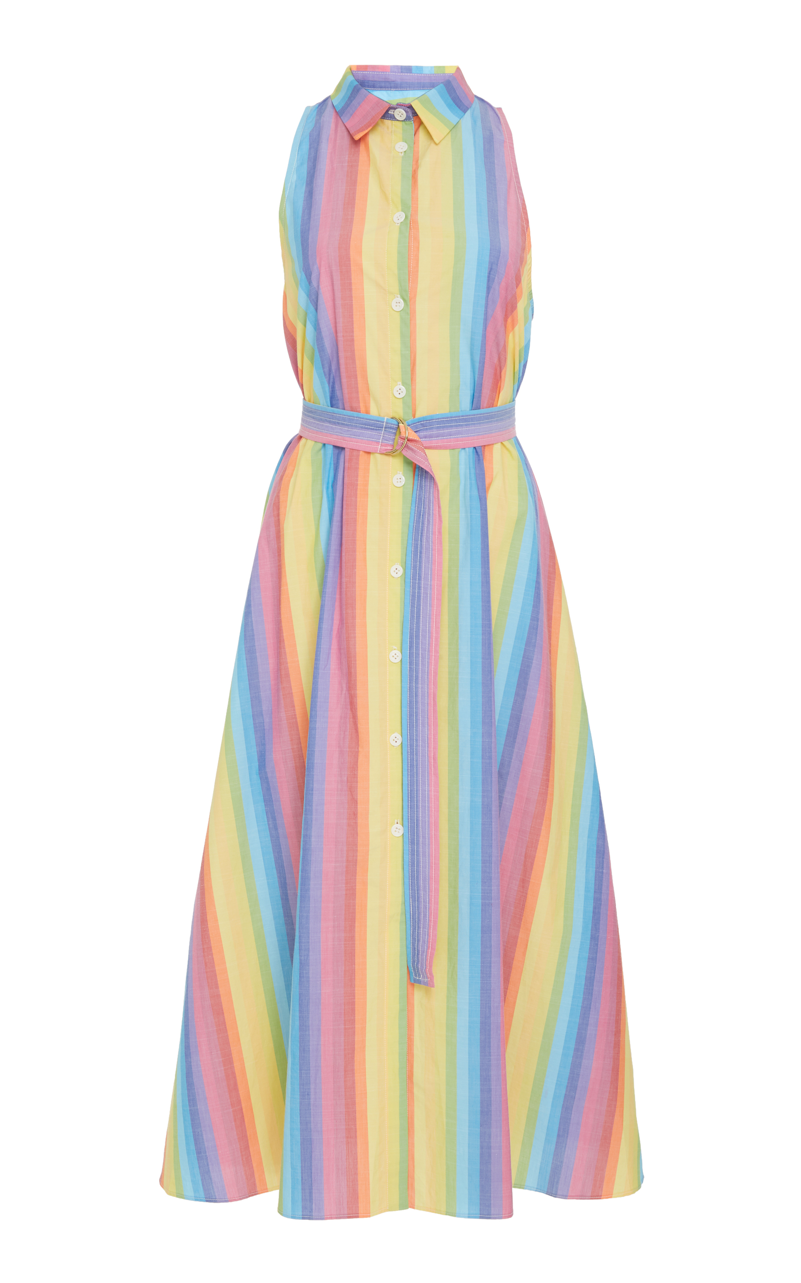0d03651ab2 Sleeveless Button Down Shirtdress by MDS Stripes