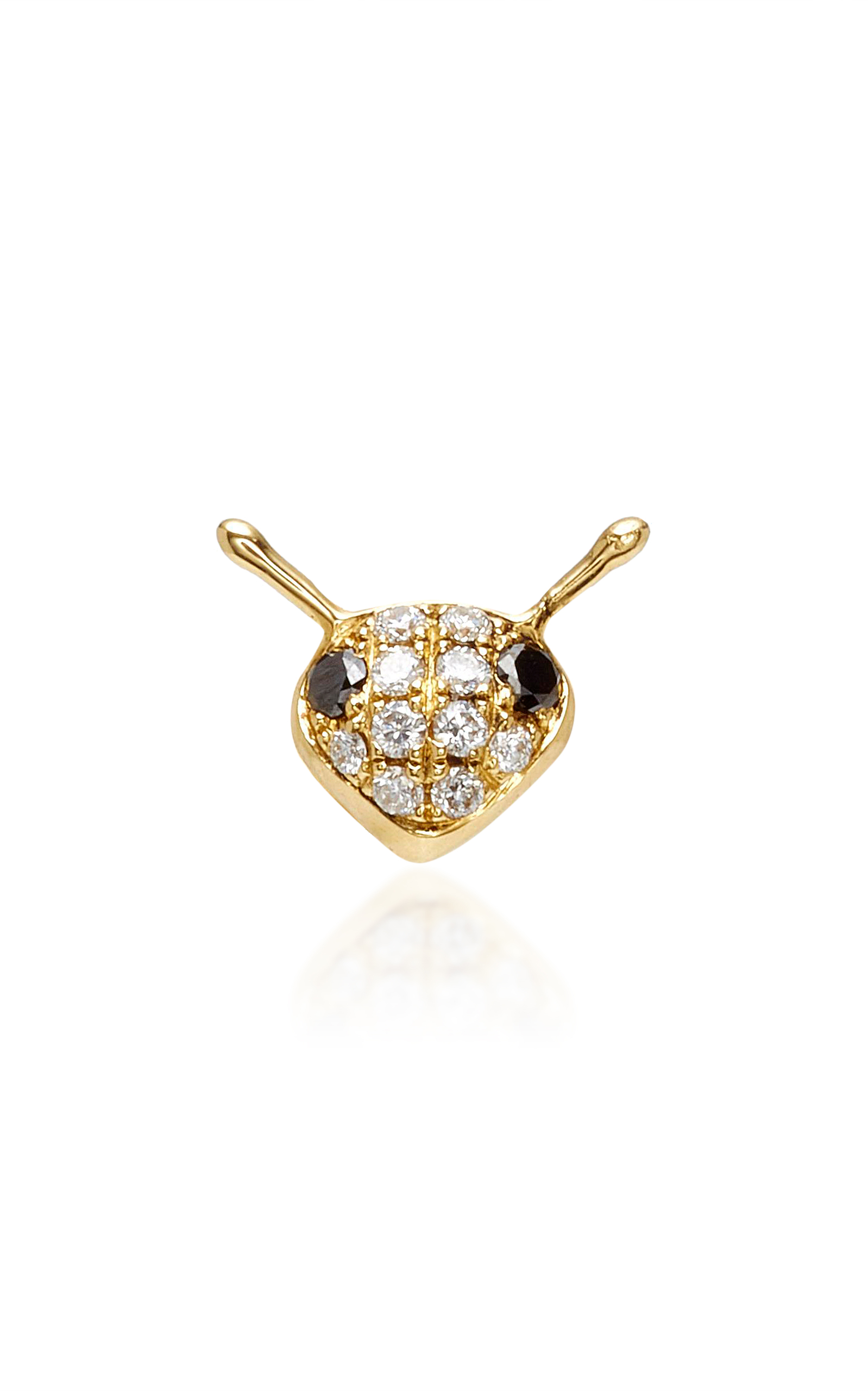 stud diamond bee single s love women diamonds earring metallic annoushka gold yellow jewelry in lyst save