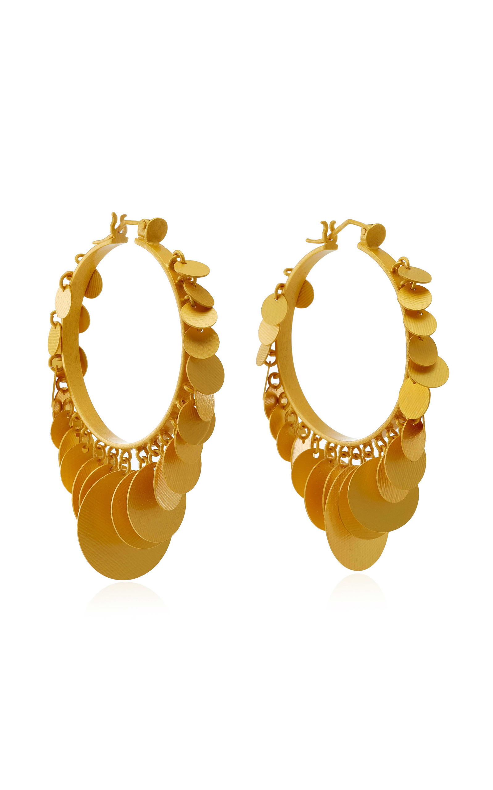 Embera Gold-Plated Brass Hoop Earrings Paula Mendoza dnJeCs49A