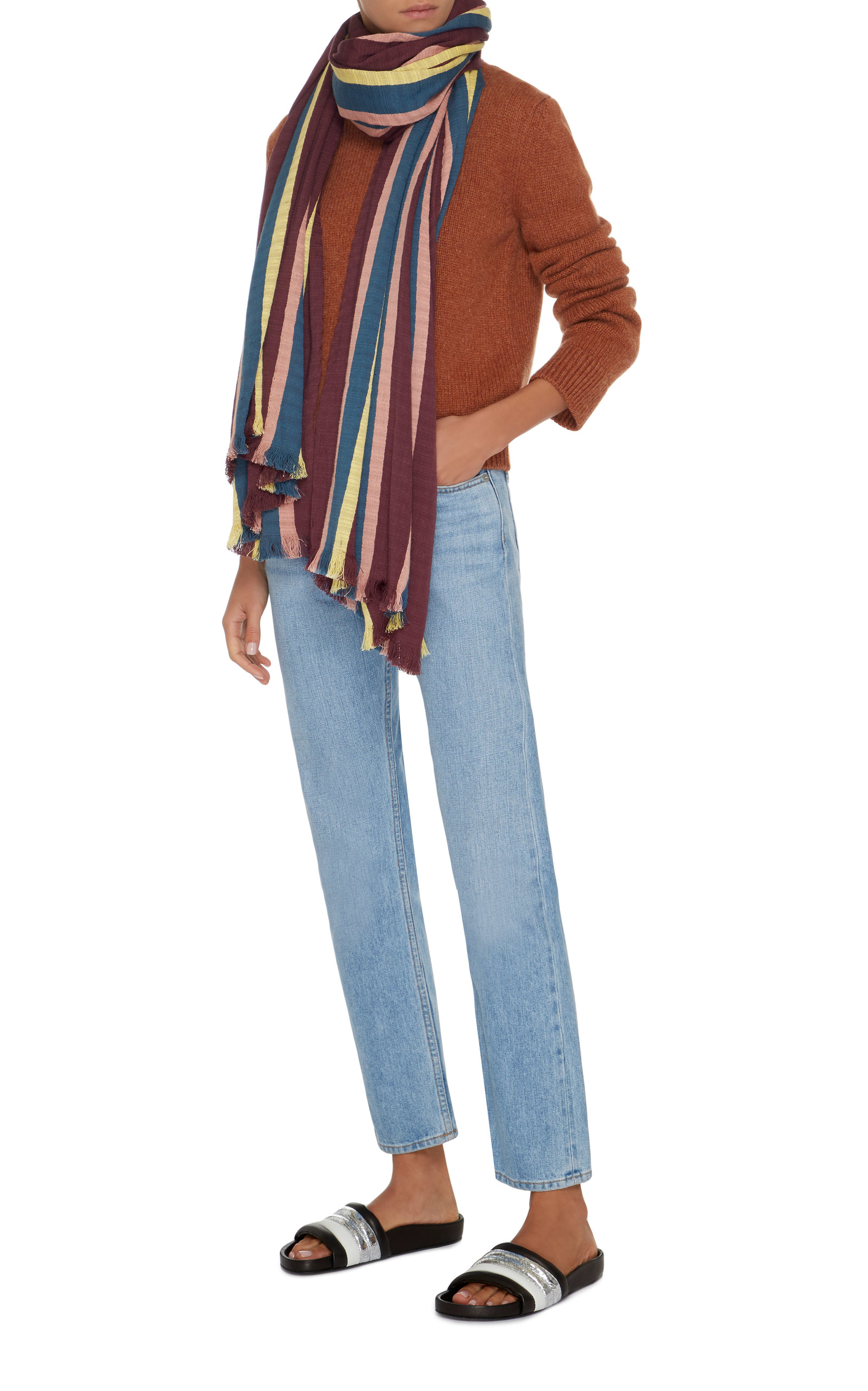 Honolulu Striped Cotton Scarf by Isabel Marant