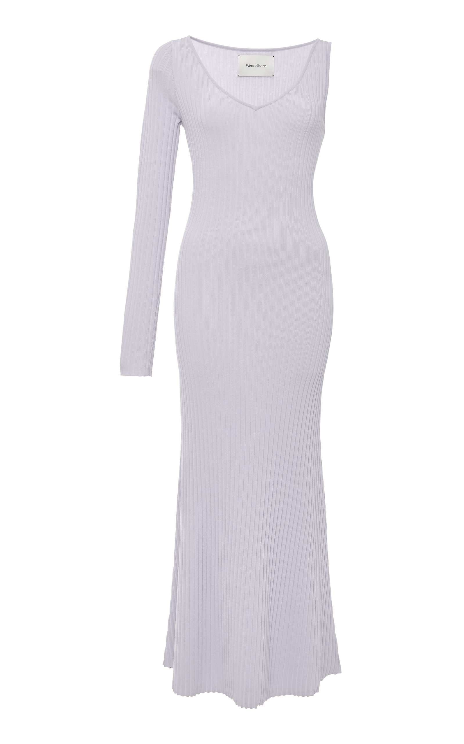 WENDELBORN One Arm Rib Dress in Purple