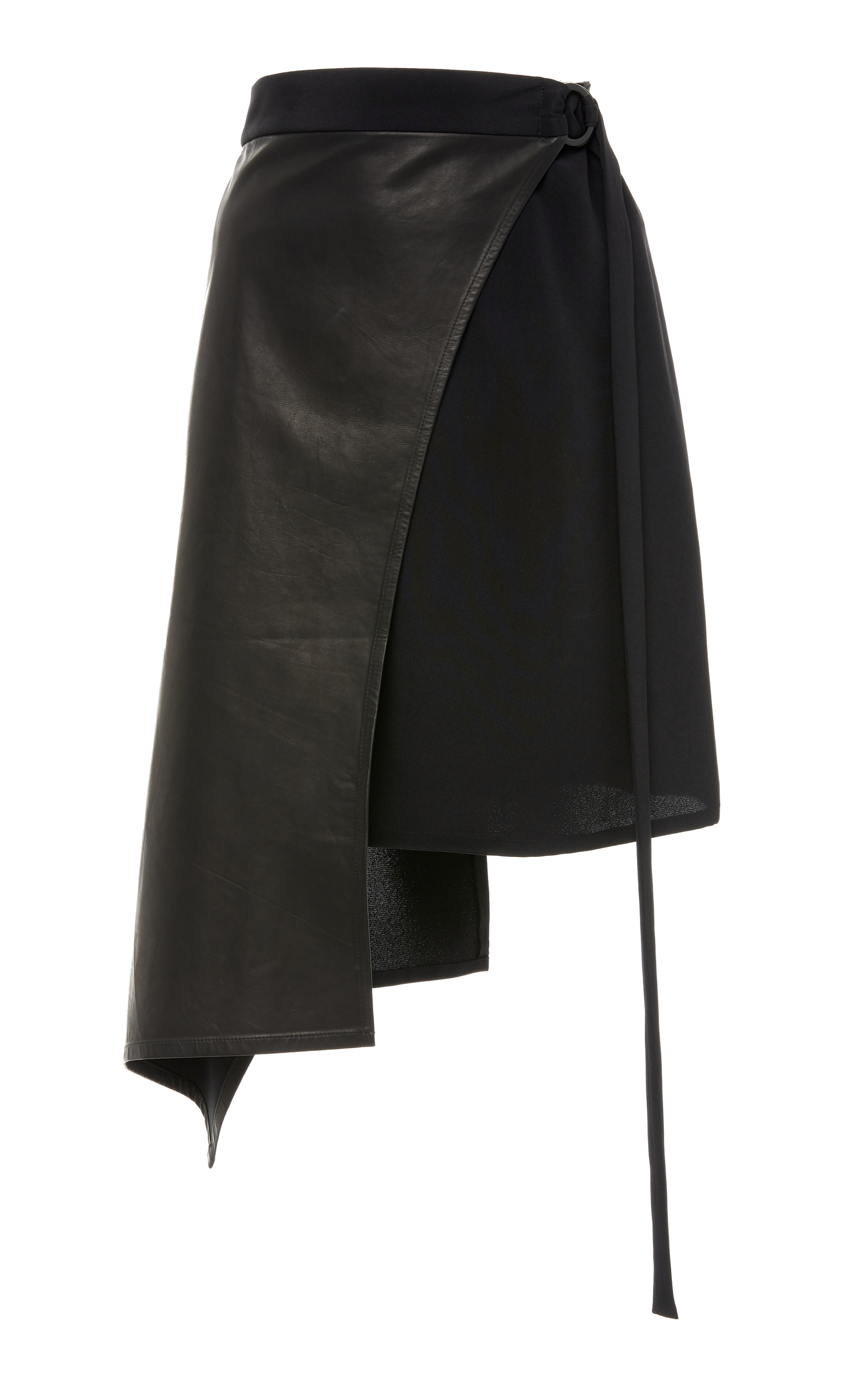 WENDELBORN Short Curve Wrap Skirt in Black