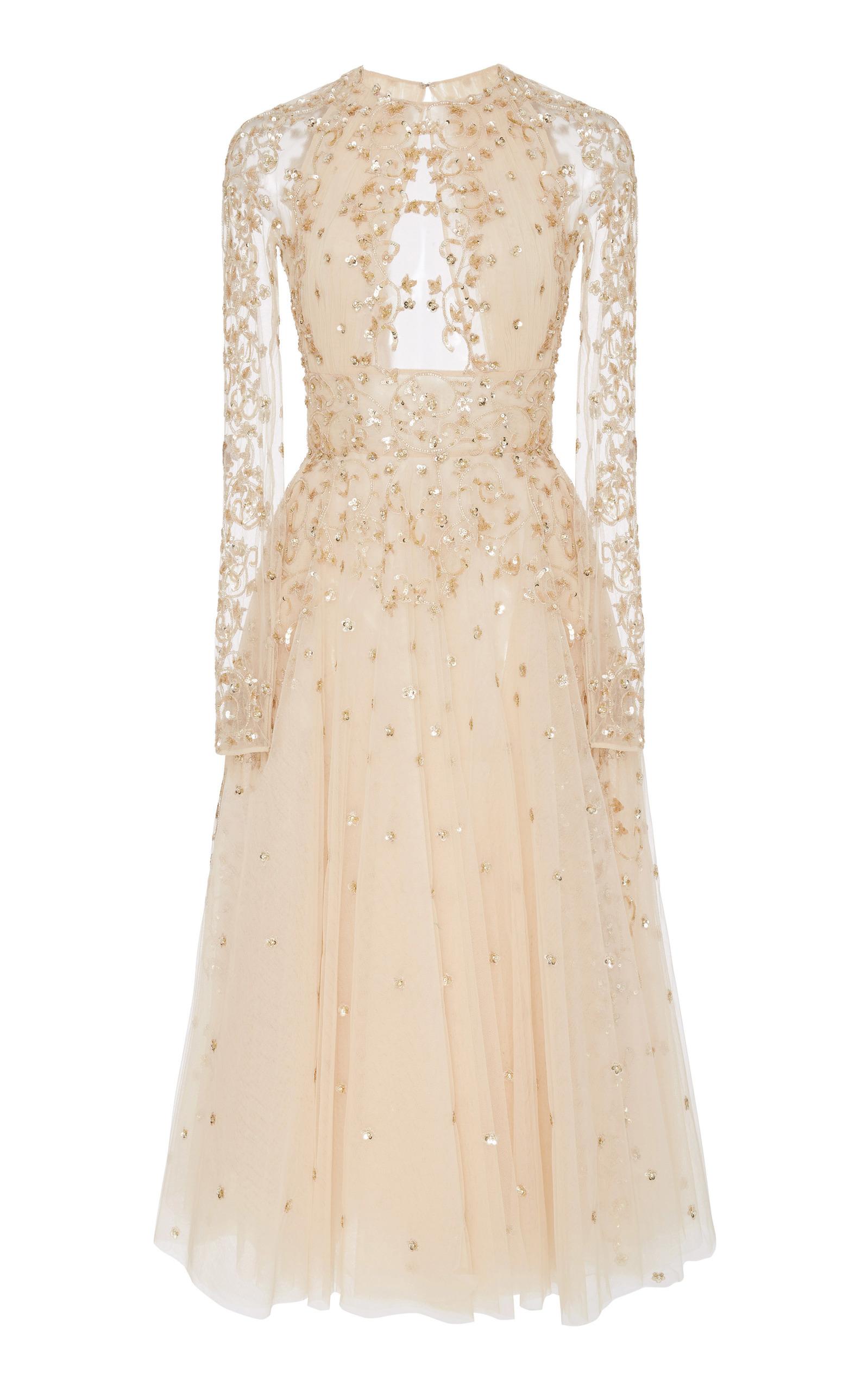 a71168b0f85f Arianna Embellished Silk Midi Dress by Zuhair Murad | Moda Operandi