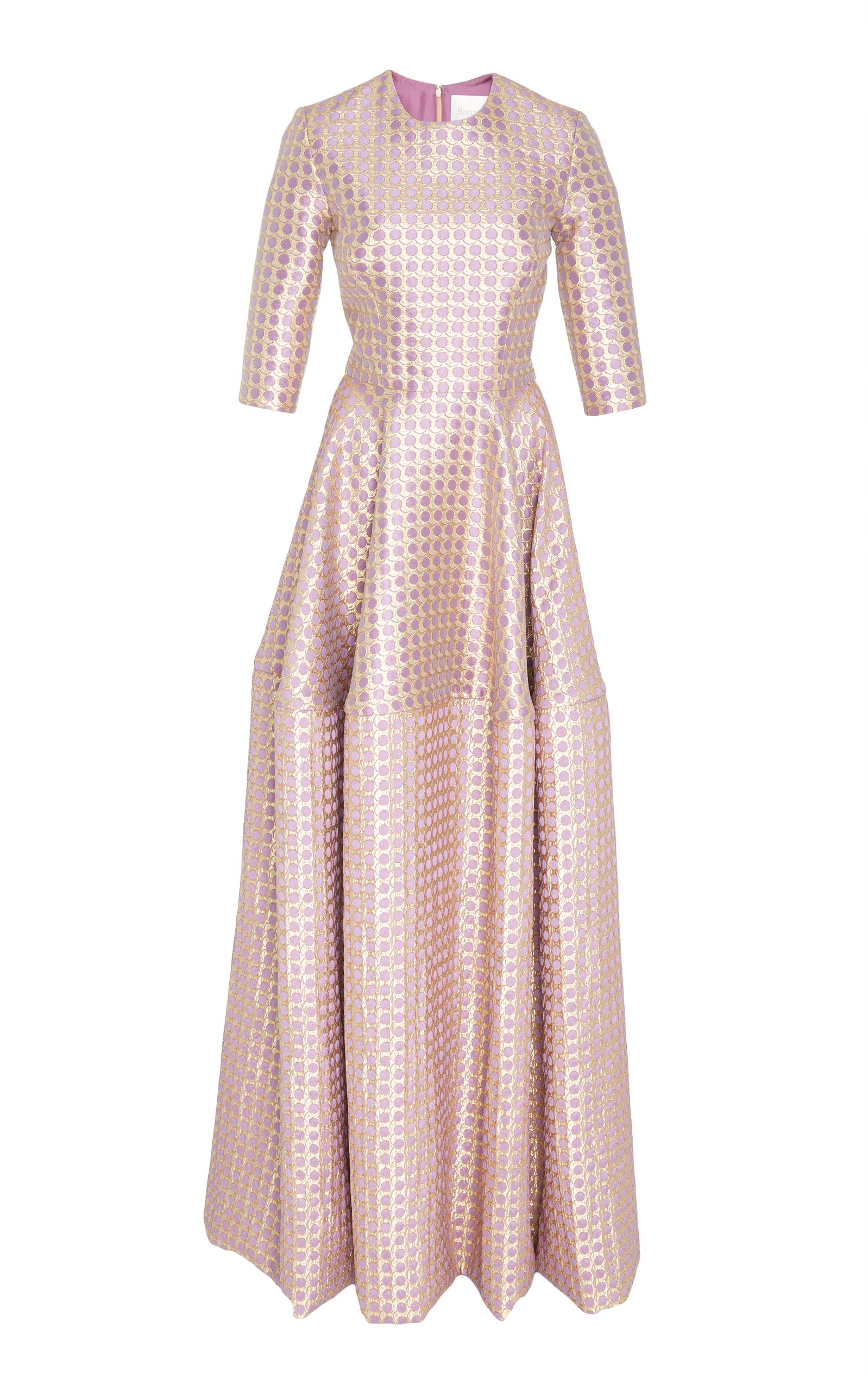 Metallic Jacquard Gown - Lilac Reem Acra lOX0amjeE