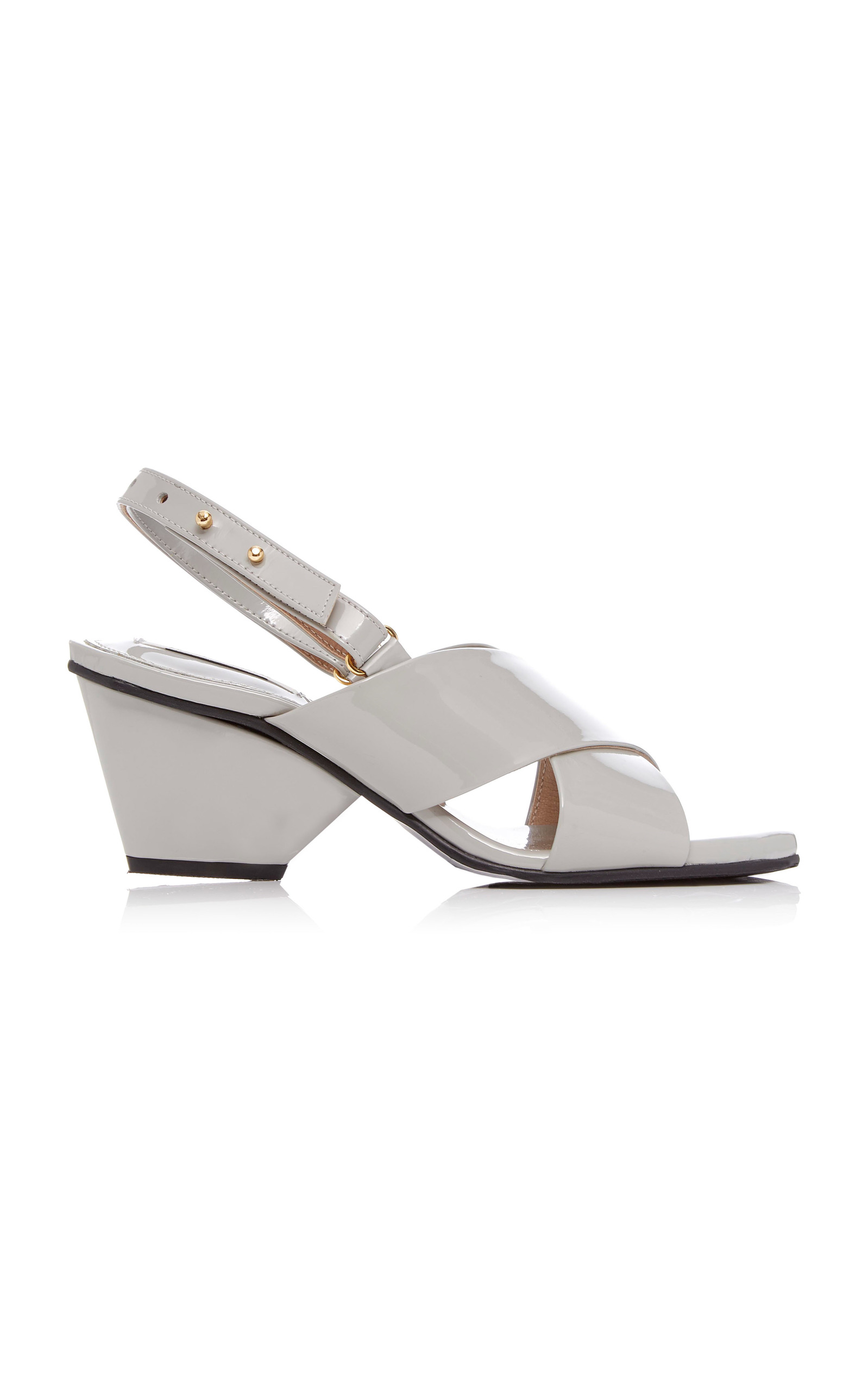 White Square Toe 60 Leather Mules, Brown