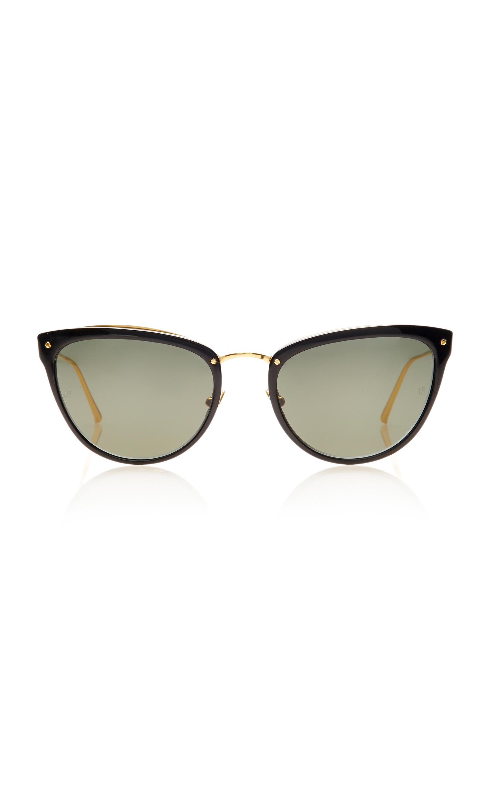 5cbbc197d6c Linda FarrowGold-Tone Titanium and Acetate Cat-Eye Sunglasses. CLOSE.  Loading