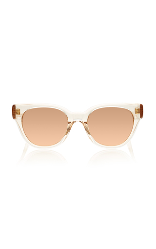 LINDA FARROW | Linda Farrow Rose-Gold Acetate Sunglasses | Goxip