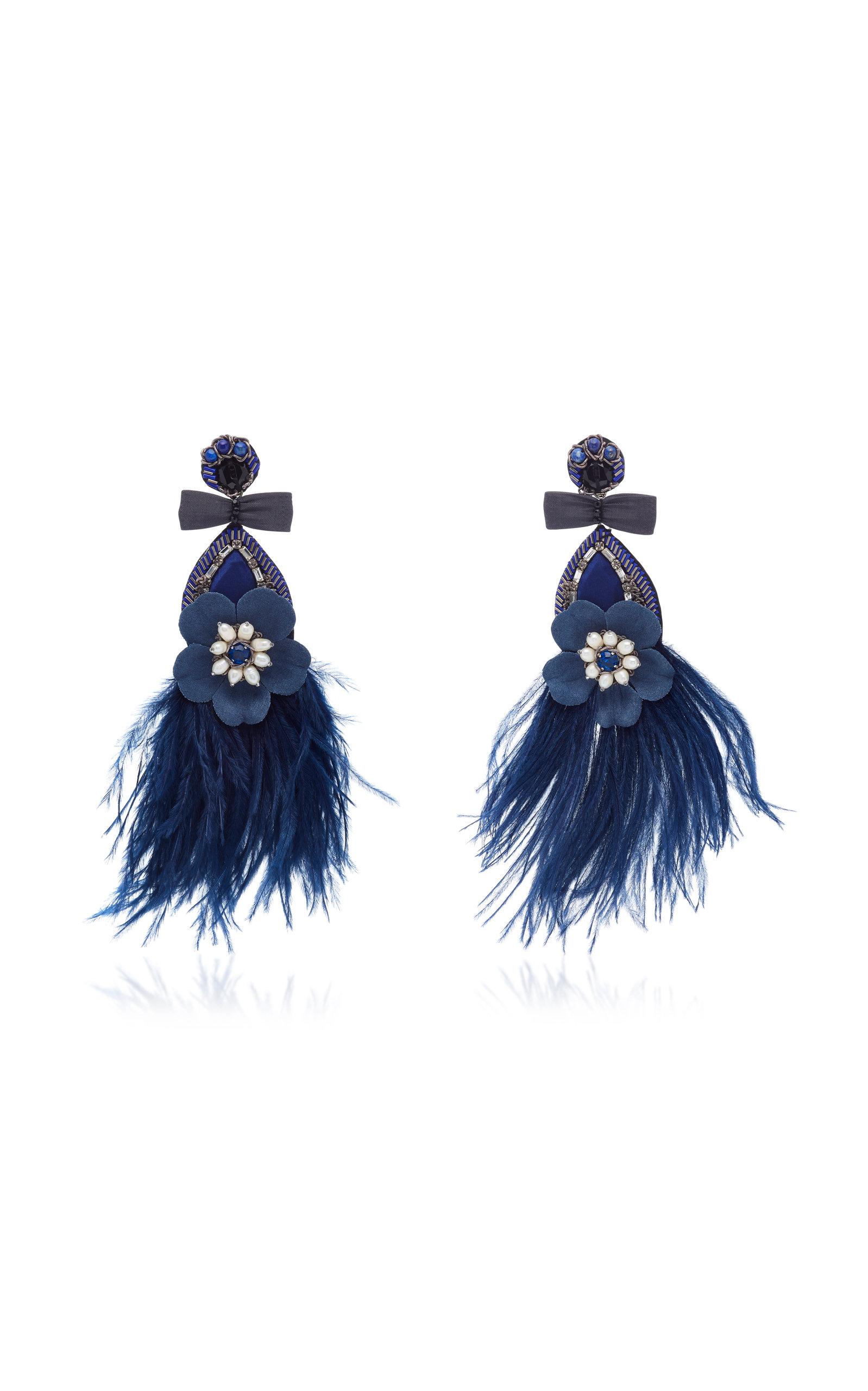 Feather Drop Earrings Ranjana Khan rvZyD