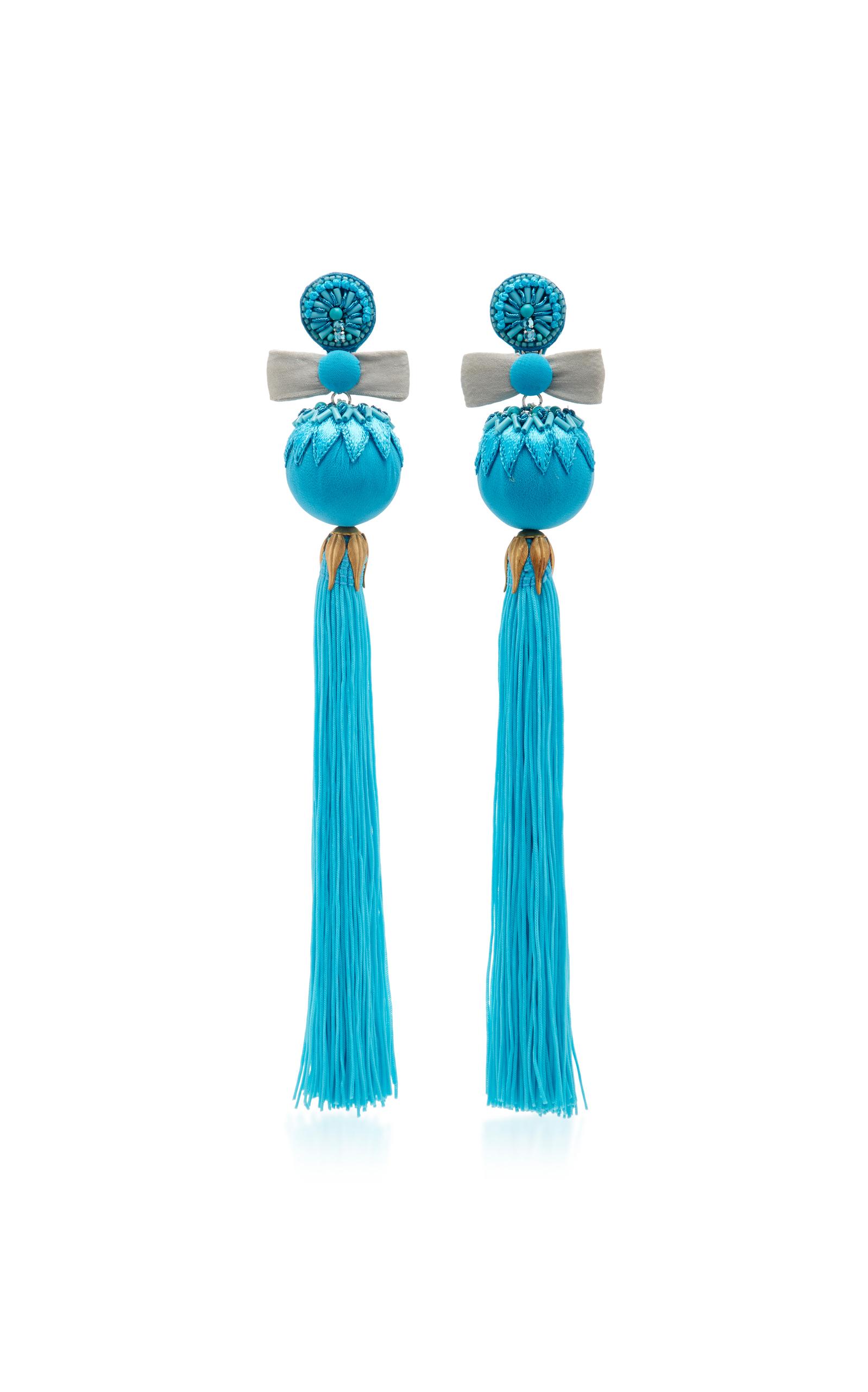 Embellished Tassel Earrings Ranjana Khan 38fdIa