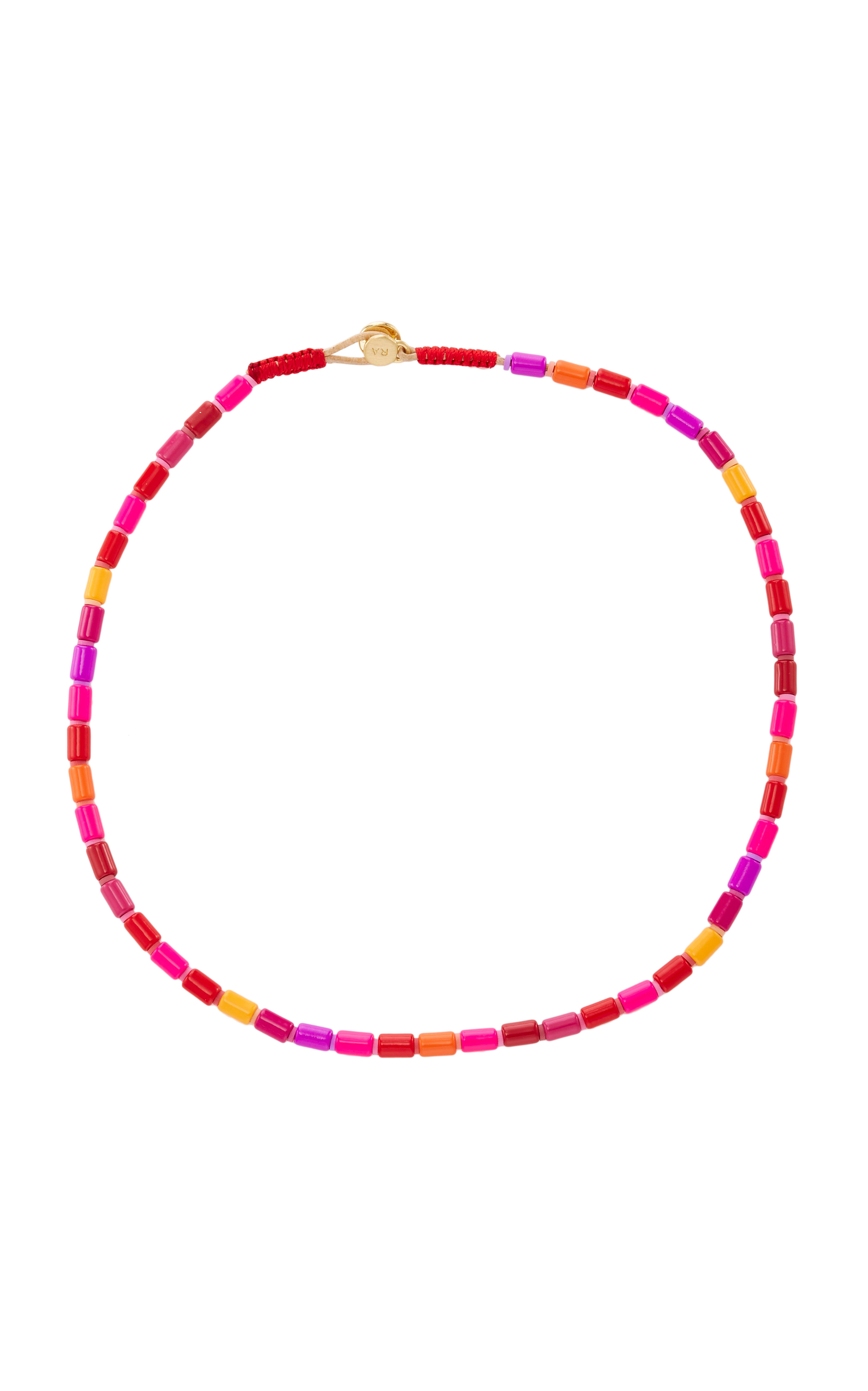 ROXANNE ASSOULIN EXTREMELY PINK U-TUBE NECKLACE