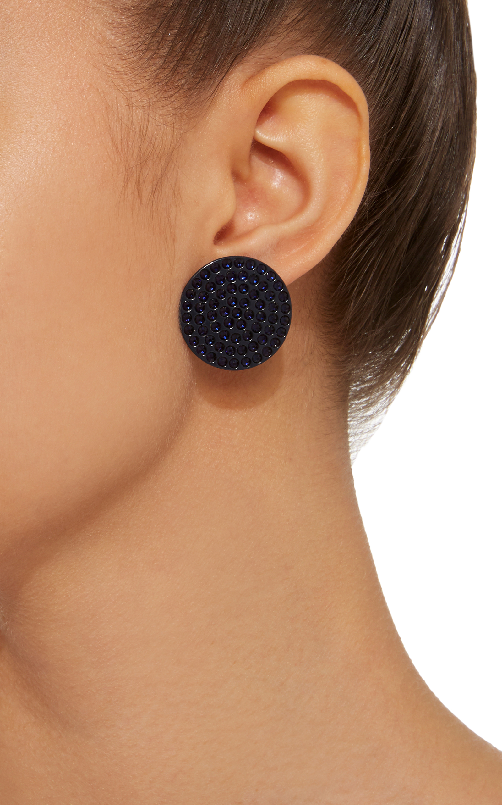 Roxanne Assoulin Full Moon Navy Earrings BhEmmooeGA