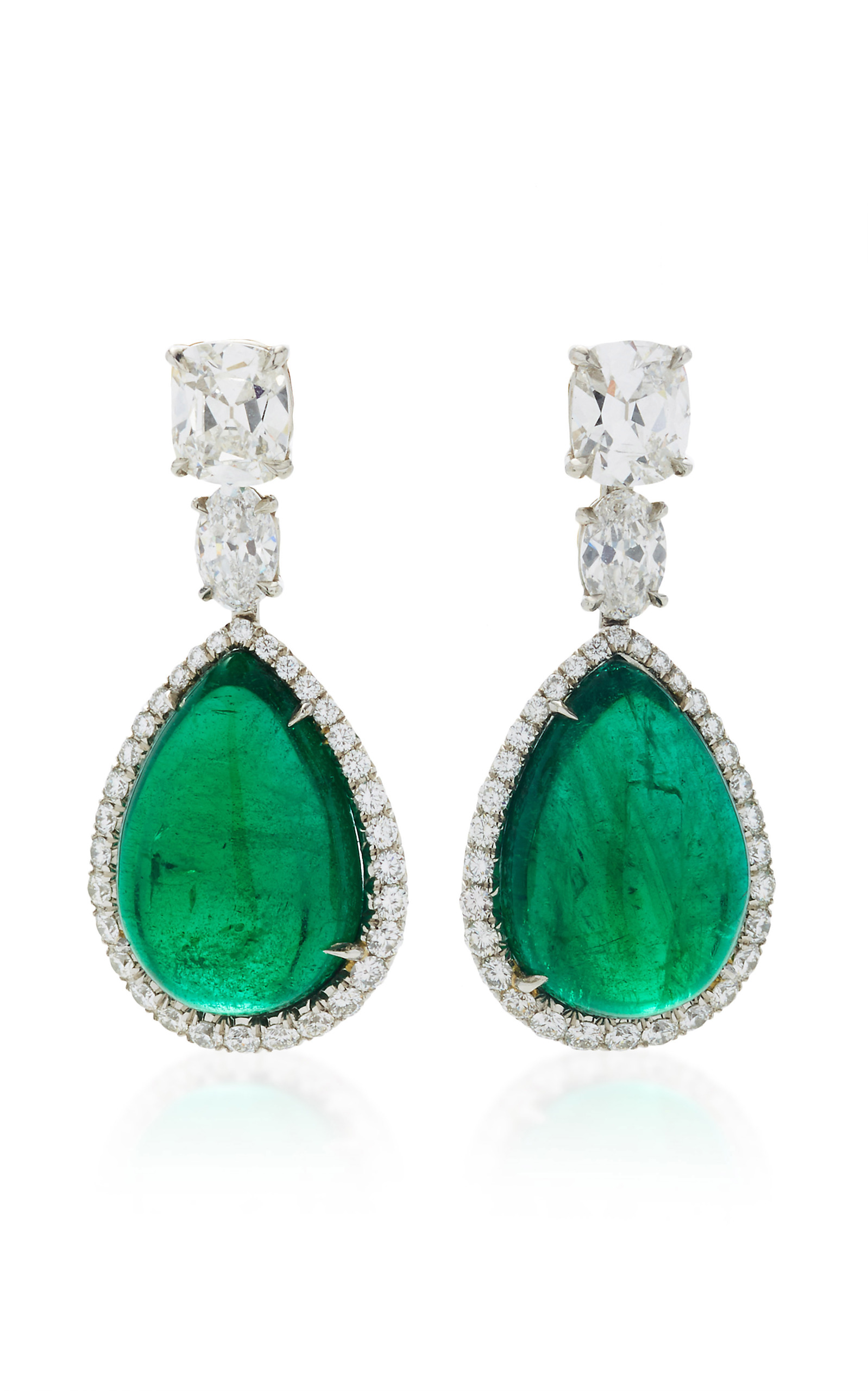 shop mm earrings emerald desdemona lafleur green jewellery