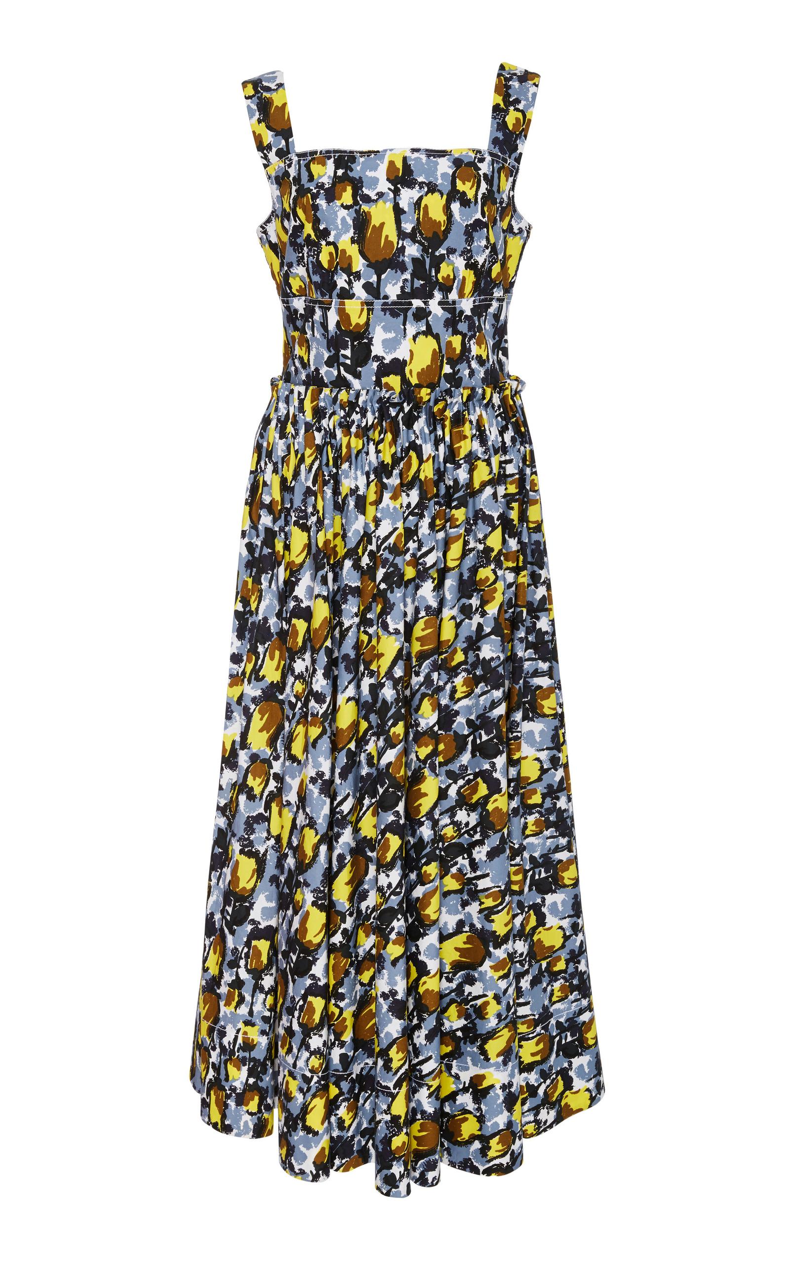 printed sleeveless midi dress - Black Marni K1B0uxNM