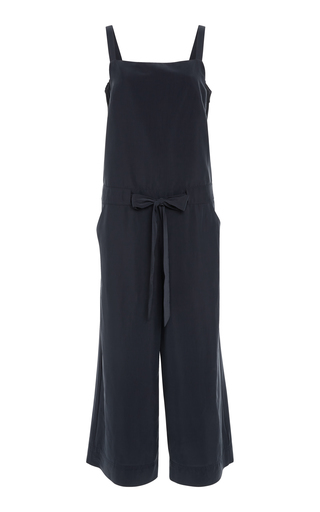 BECKEN | Becken Pintuck Panel Cupro Blend Jumpsuit | Goxip