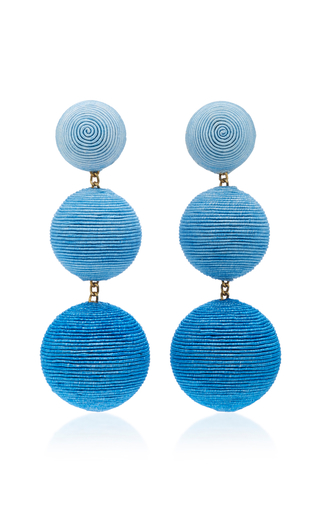 MO Exclusive Ombre Three Drop Clip Earrings Rebecca de Ravenel gdsGE4Fx