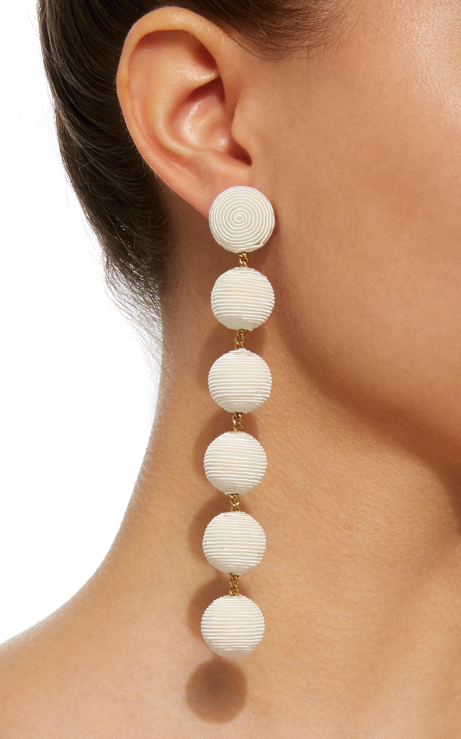 MO Exclusive Six Drop Silk Earrings Rebecca de Ravenel FkpN45Nifl