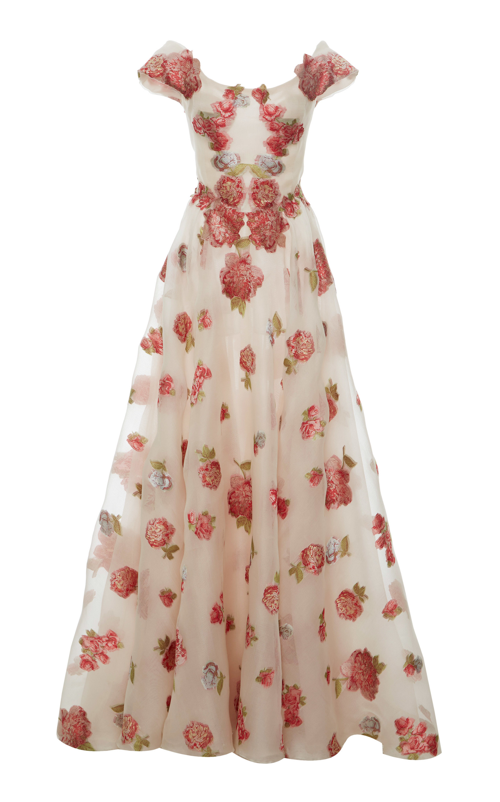 Floral fil-coupe dress Luisa Beccaria OCGNF0K1eI