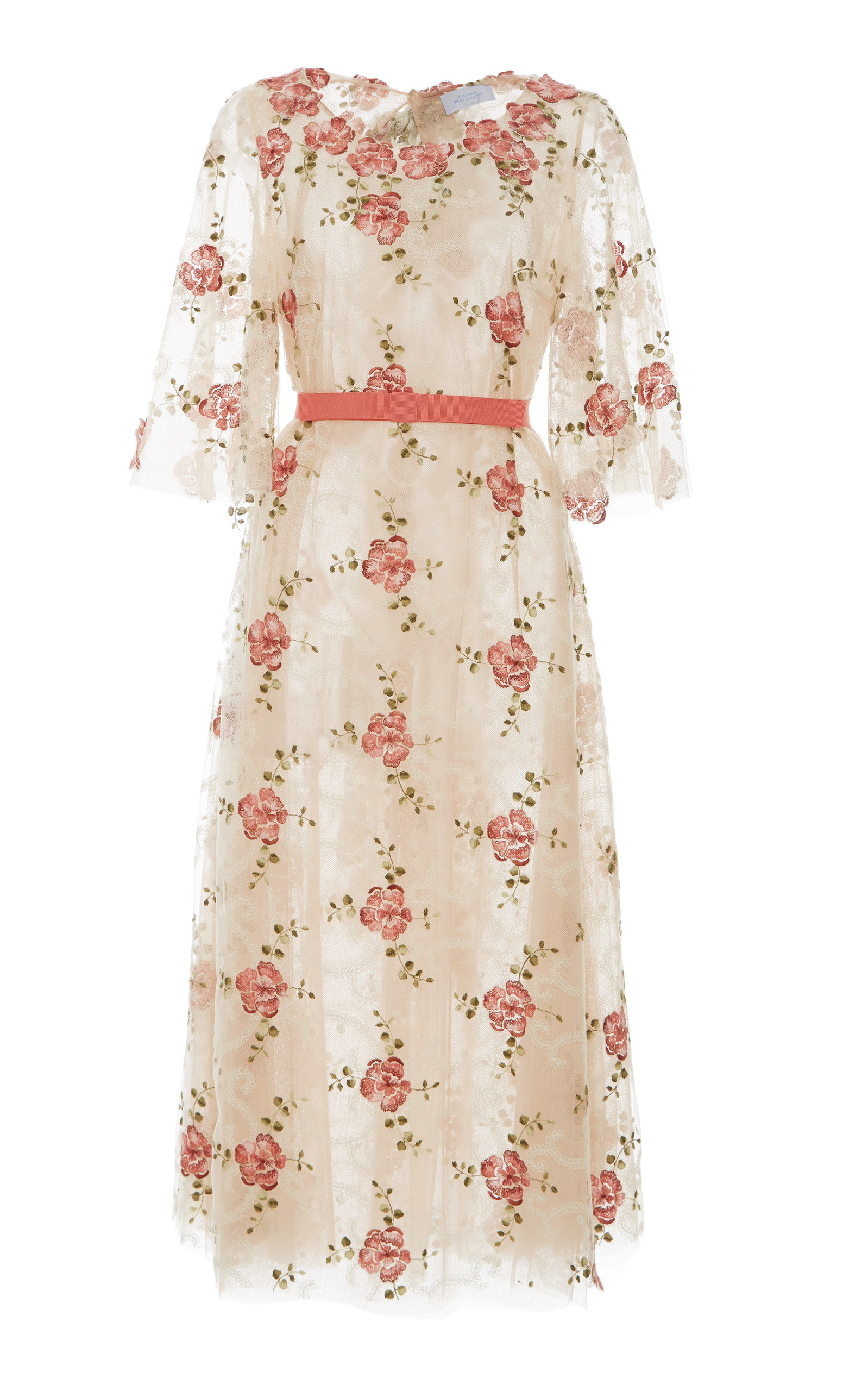 1b73806fcd9f6 Luisa BeccariaTulle Embroidered Flowers Dress. CLOSE. Loading