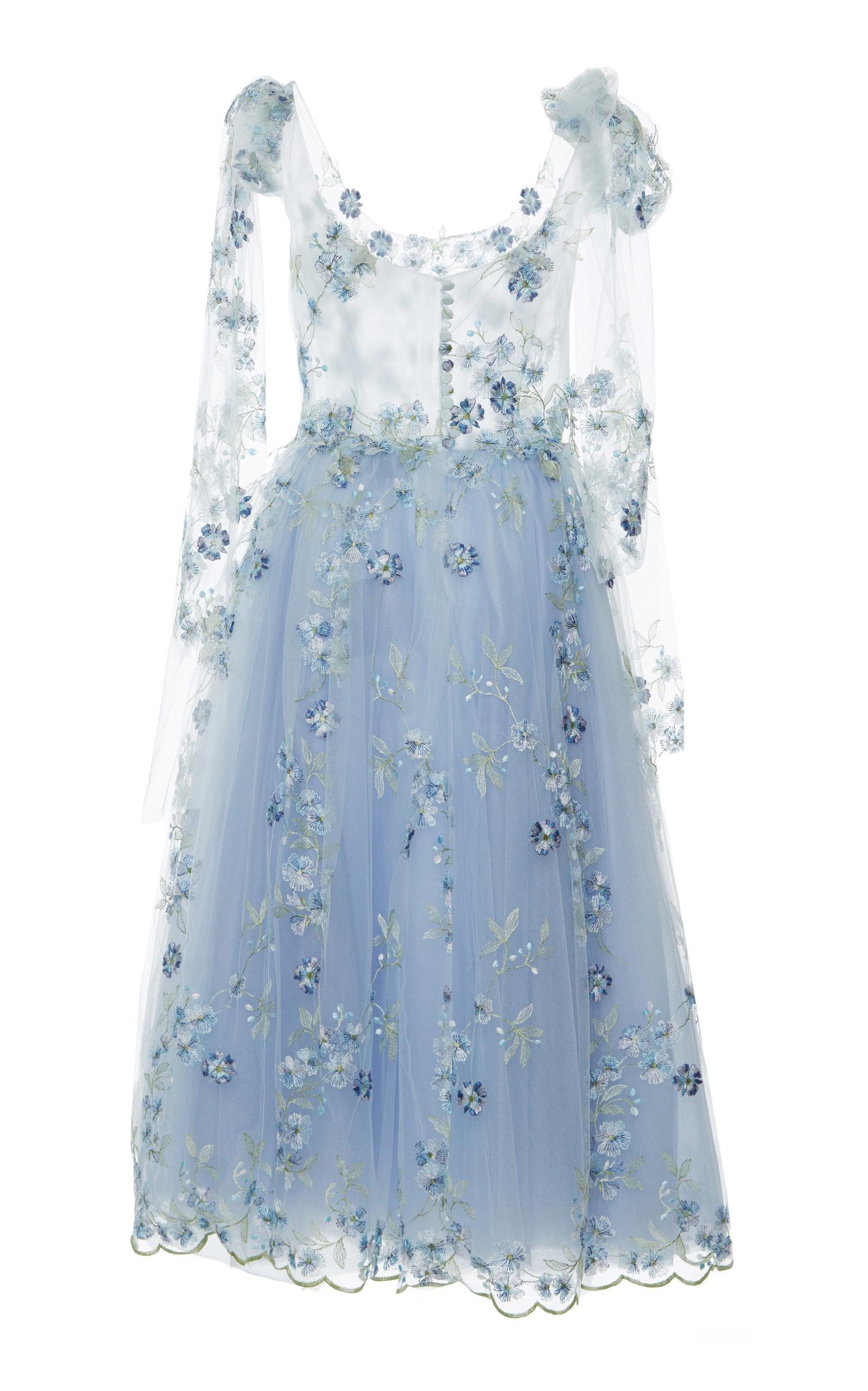 Tulle Embroidered Ballerina Dress by Luisa Beccaria   Moda Operandi