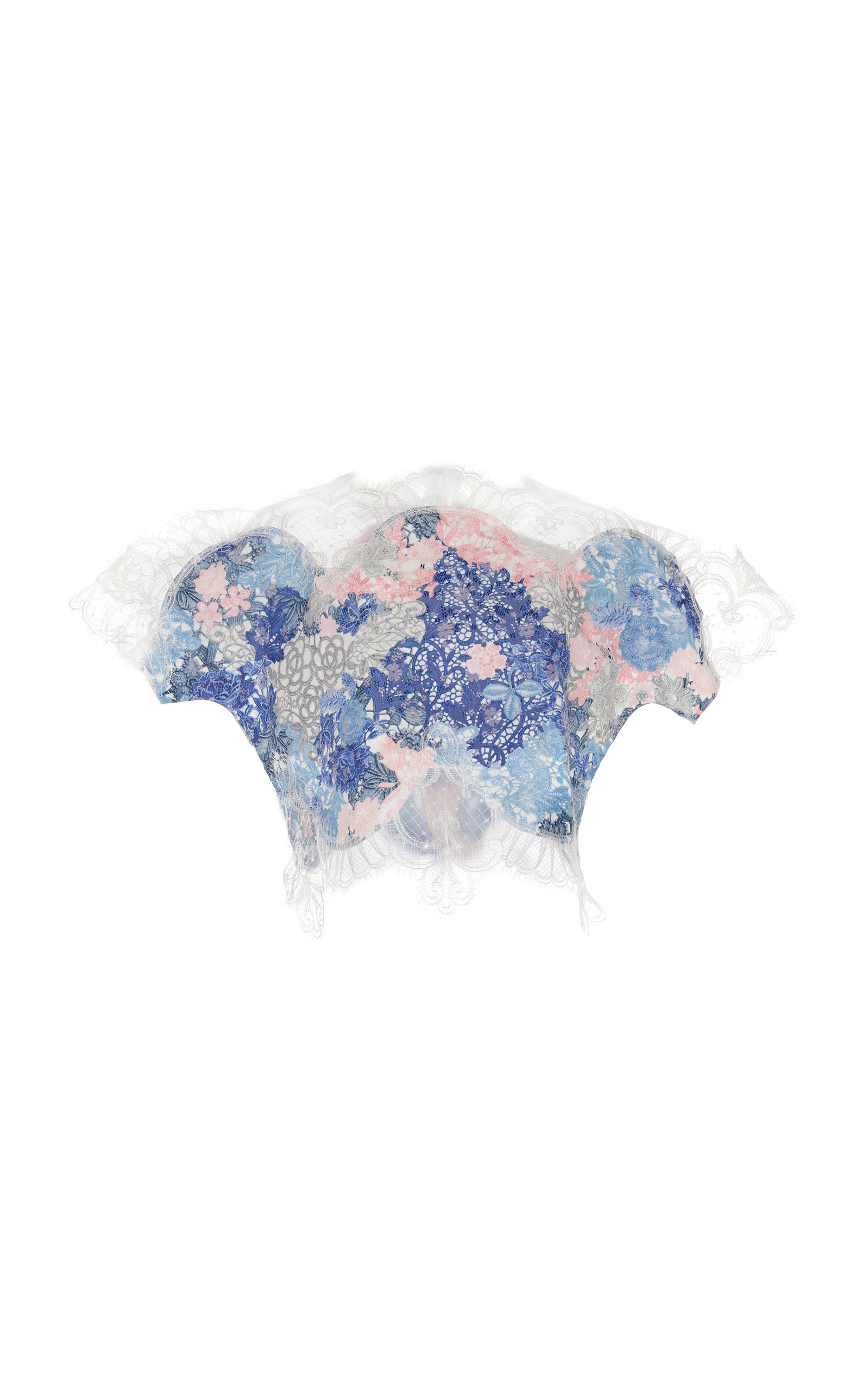 Pre Order For Sale Cheap Sale Many Kinds Of Printed Brocade Organza Top Costarellos Cheap Discount Sale Discount Recommend Buy Cheap Choice shK4OHYNEc