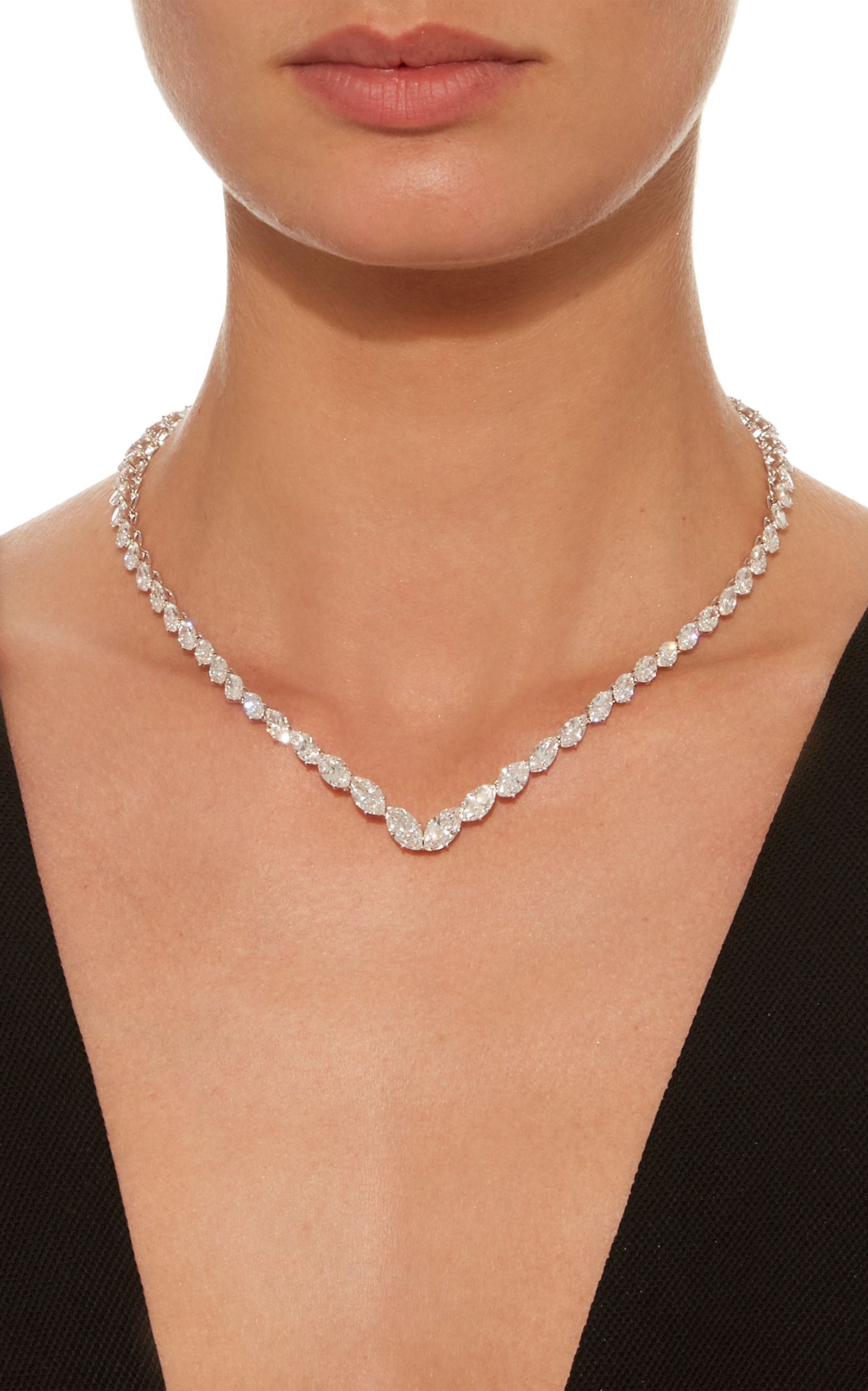 tw the ct marquise white gold necklace leo stone collection diamond