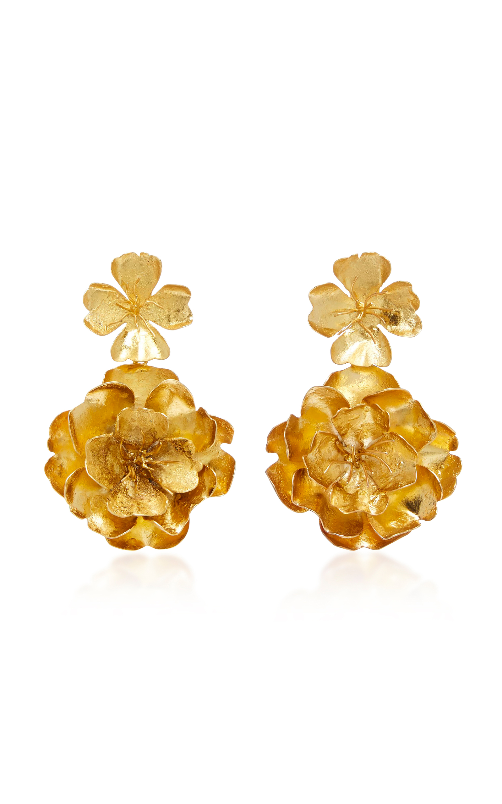 flowerearring earrings earring gold type jewelry hawaiian