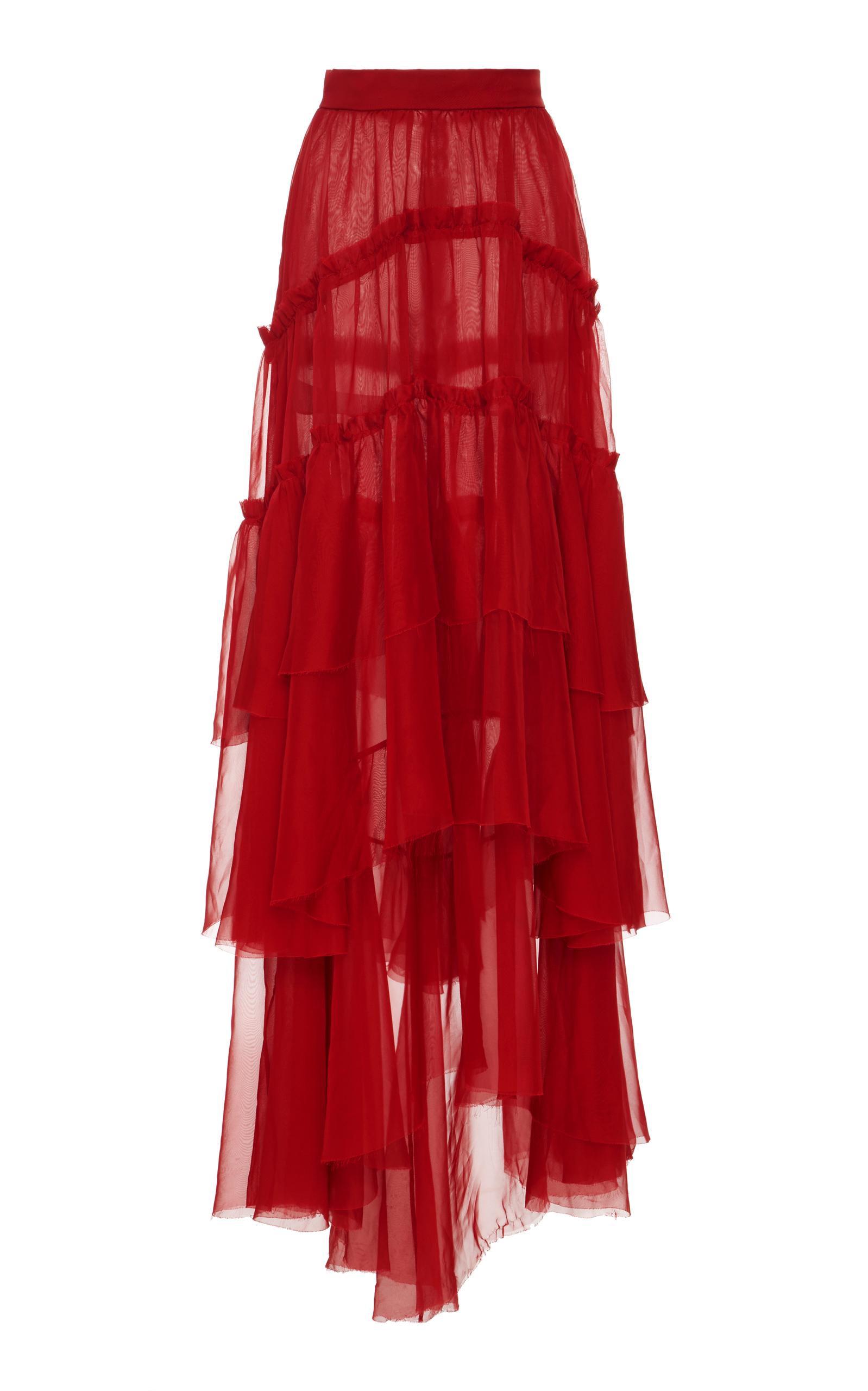 Sale New Arrival Buy Cheap Inexpensive Patbo fiesta ruffle maxi skirt PmHb0kplKu